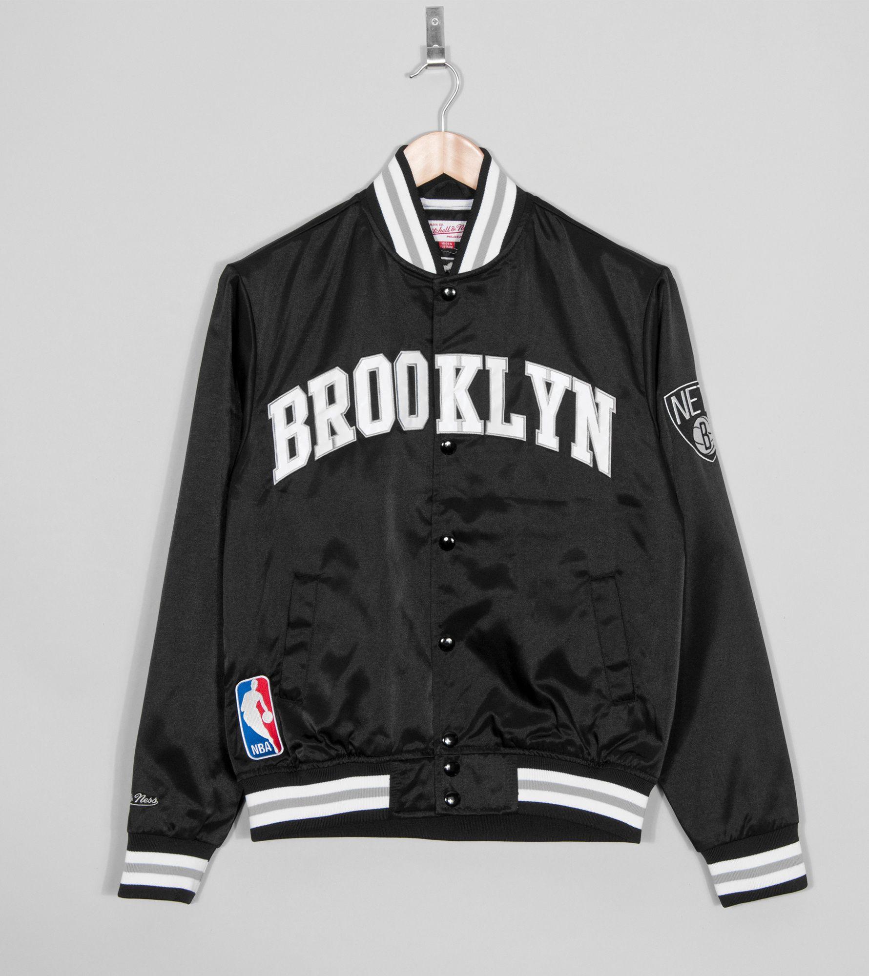 Mitchell & Ness Brooklyn Nets Satin Jacket   Size?