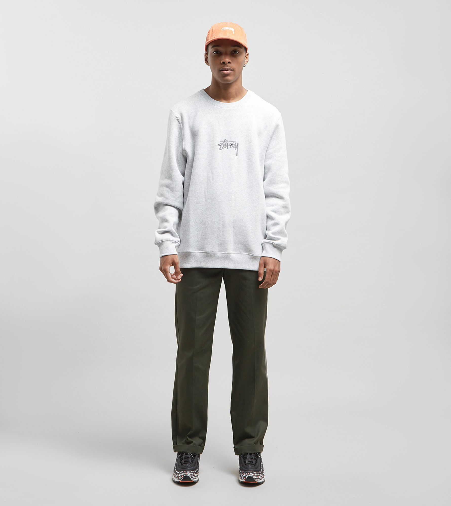 Stussy Stock Applique Crew Sweatshirt