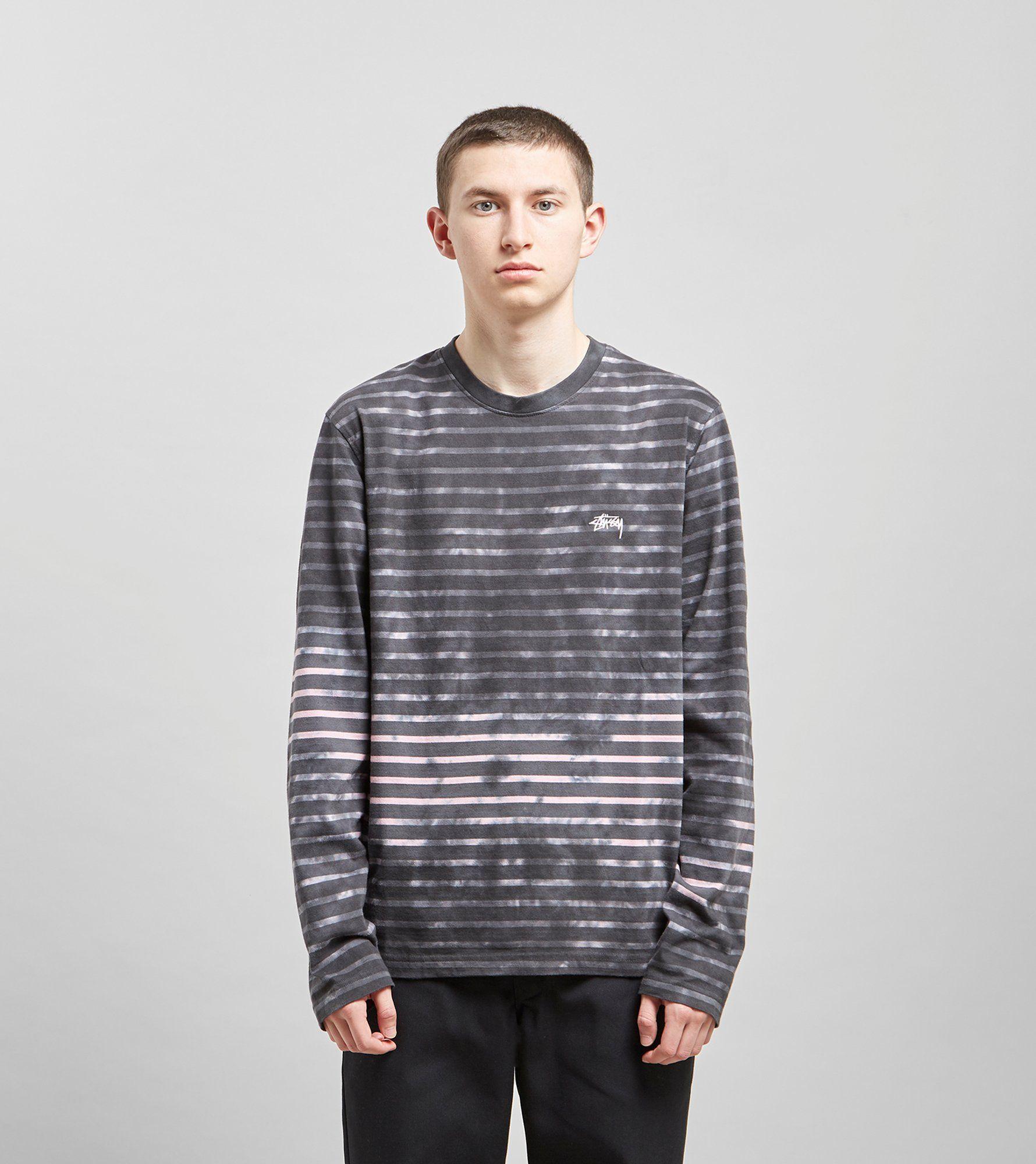 Stussy Bleach Stripe Long Sleeved T-Shirt