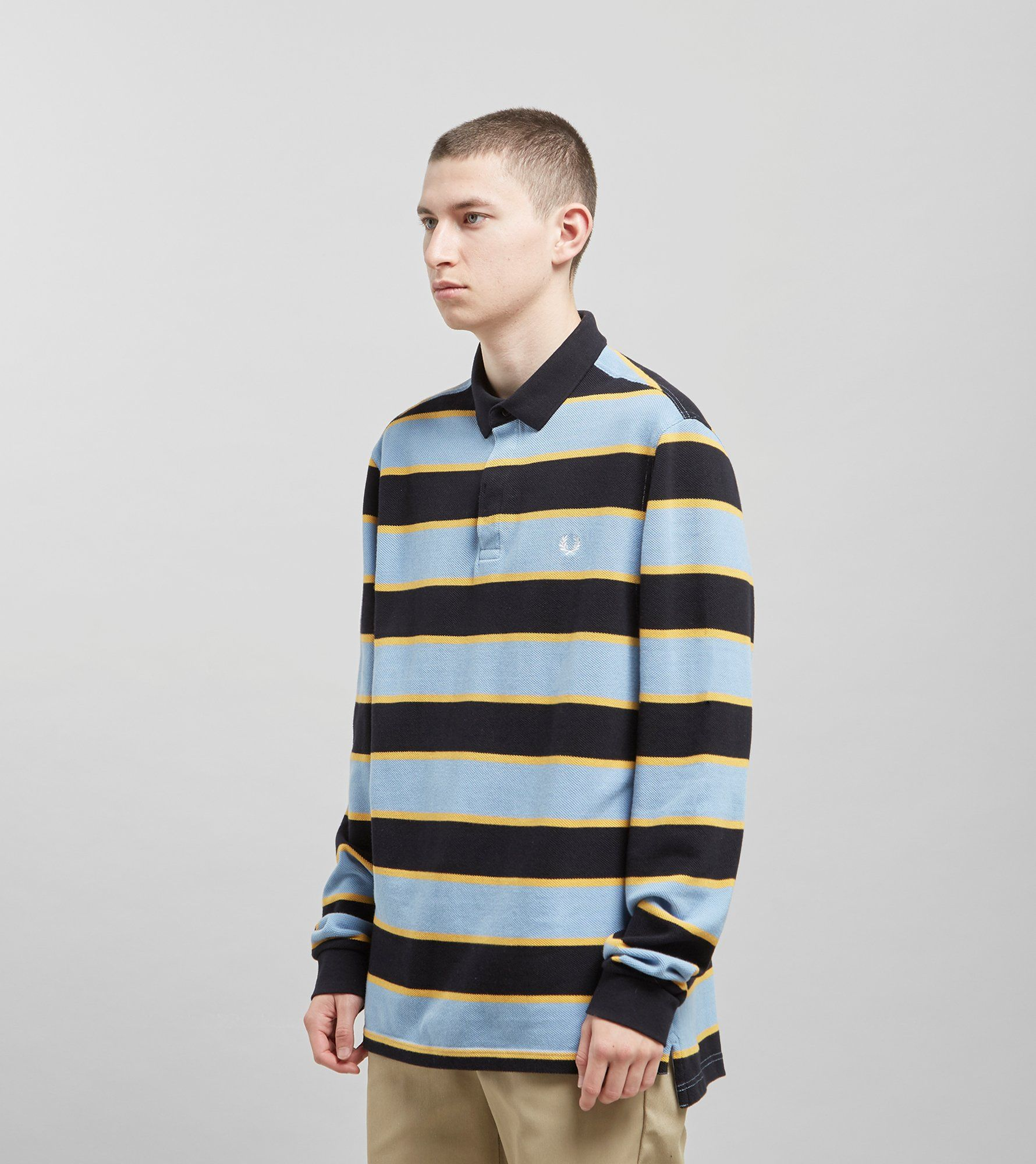Fred Perry Stripe Long Sleeved Rugby Shirt - size? Exclusive