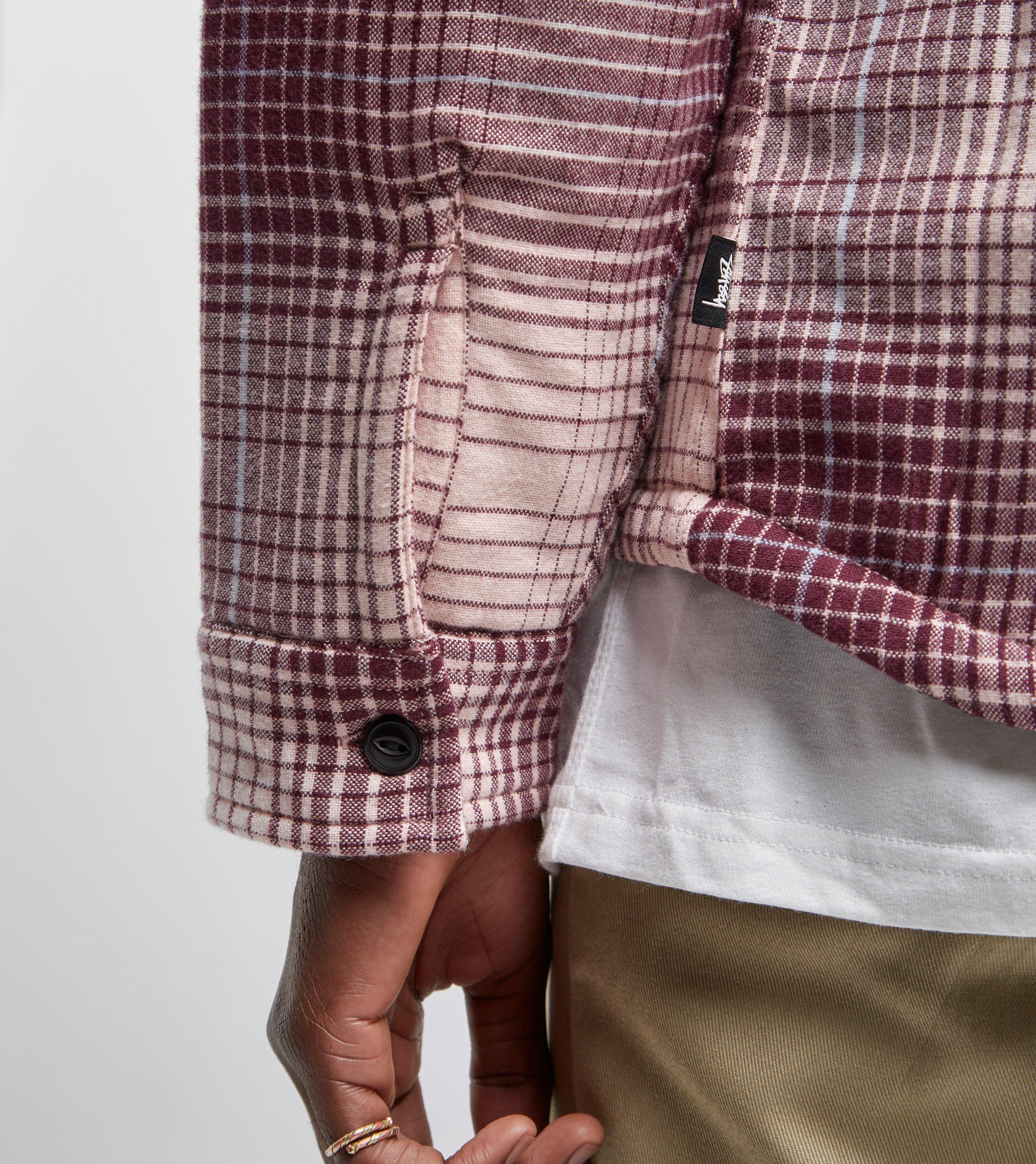 Stussy Zip Up Plaid Shirt