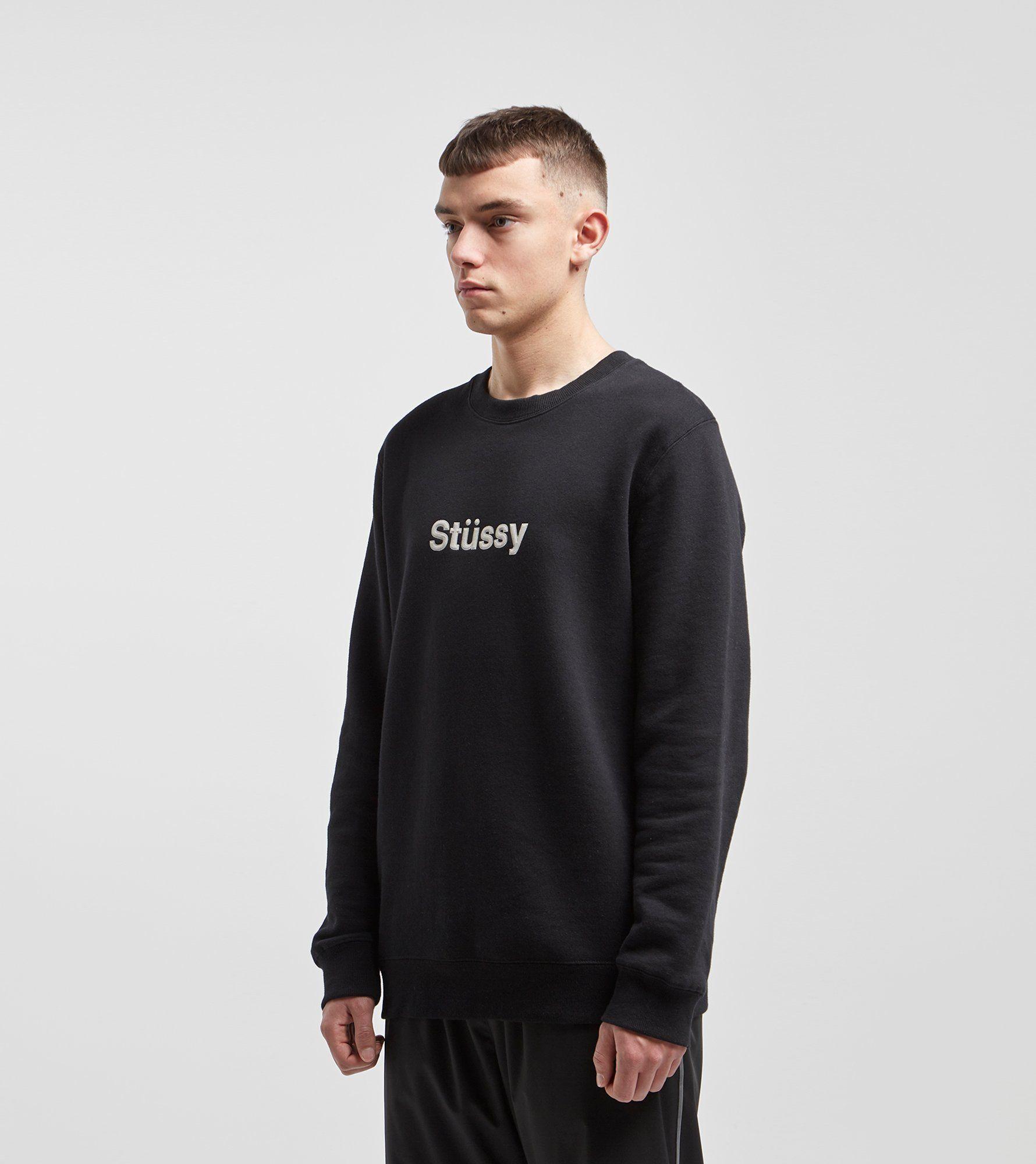 Stussy Weld Applique Crew Sweatshirt