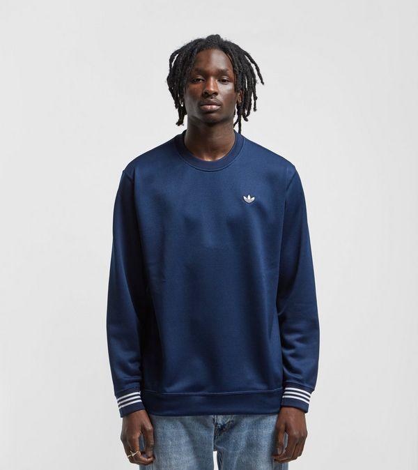 Pique Crewneck Adidas Sweatshirt Originals Size qPnCARwH