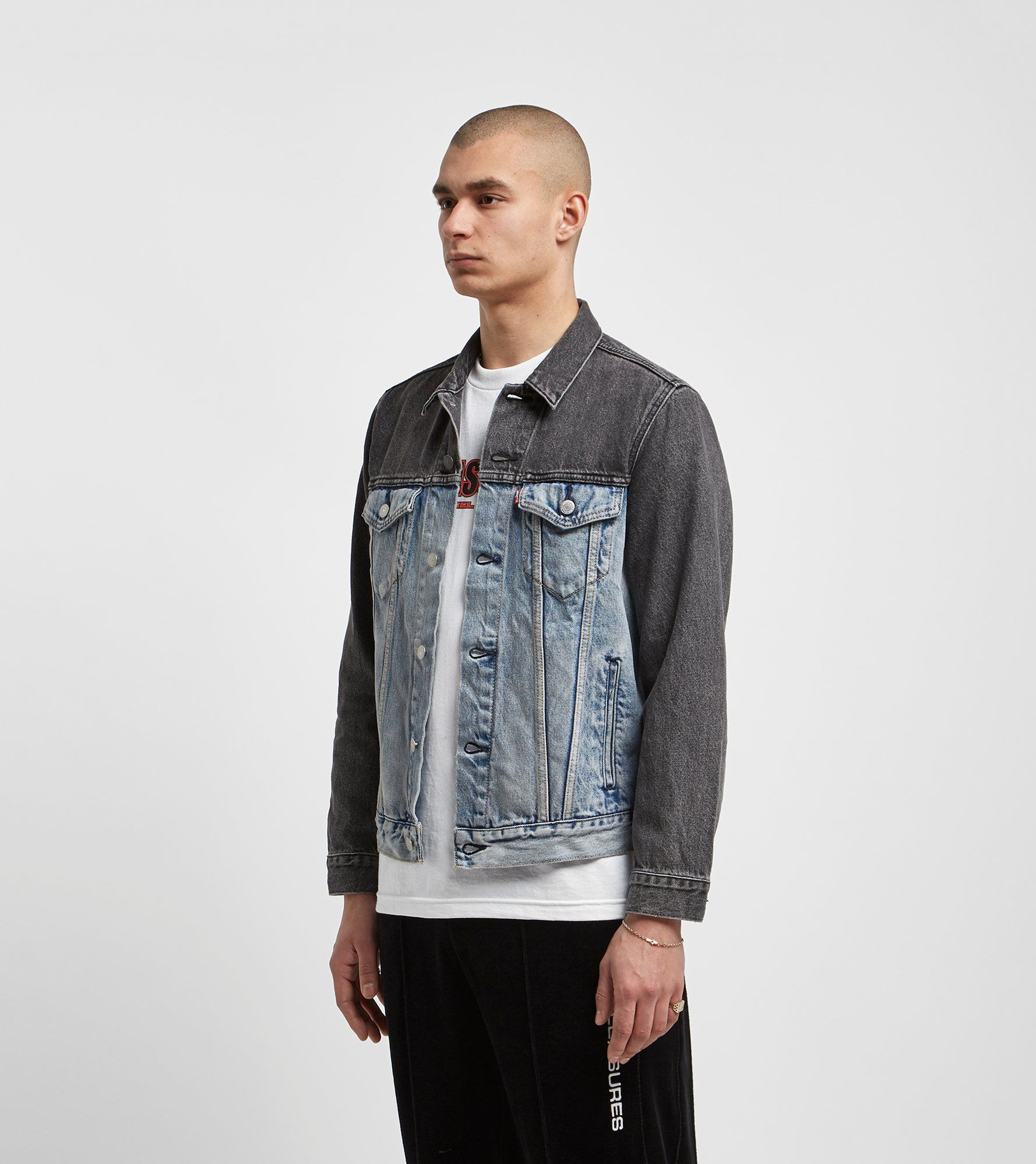 Levis Two Tone Denim Trucker Jacket