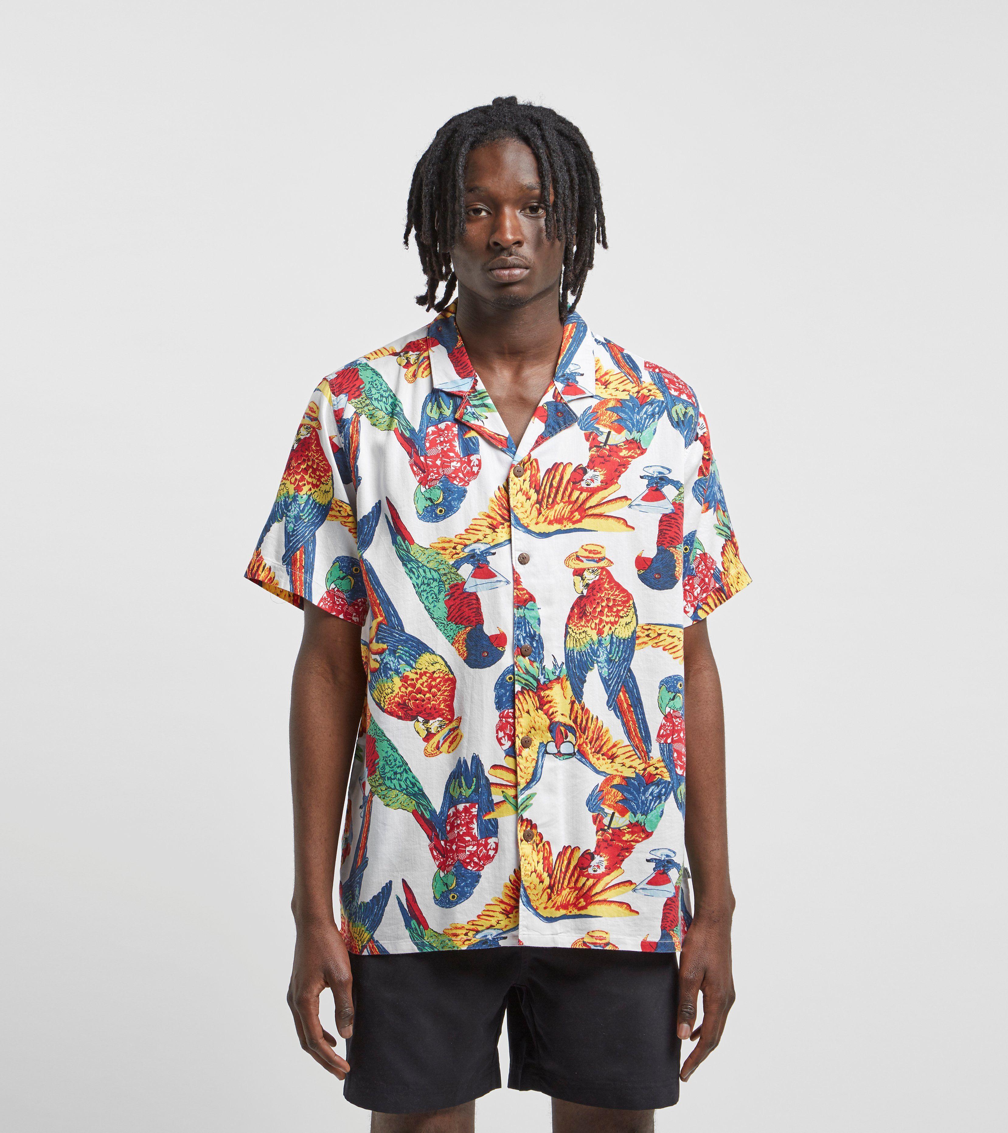 Levis Cubano Parrot Print Short Sleeve Shirt