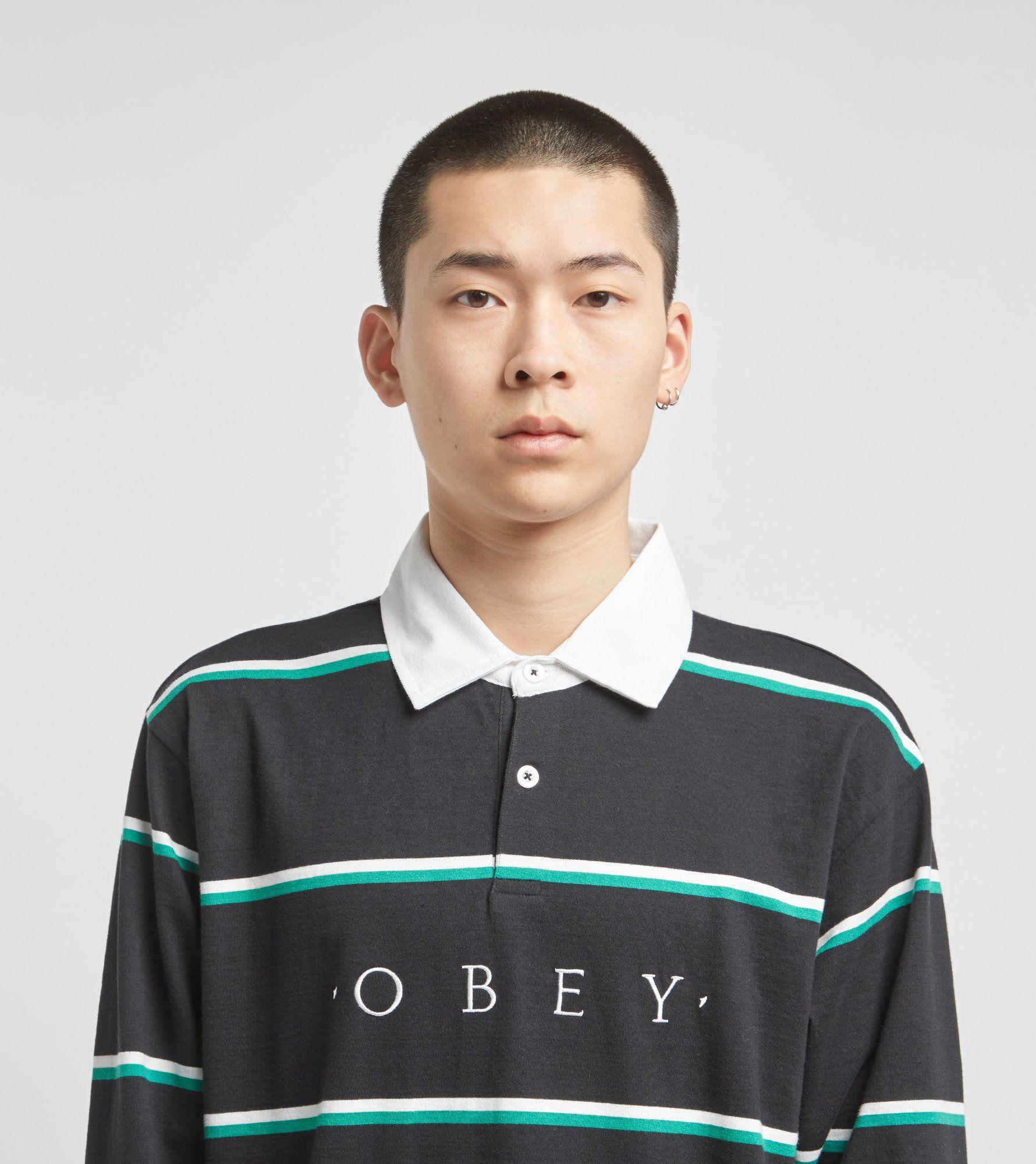 Obey Wash Long Sleeve Polo Shirt