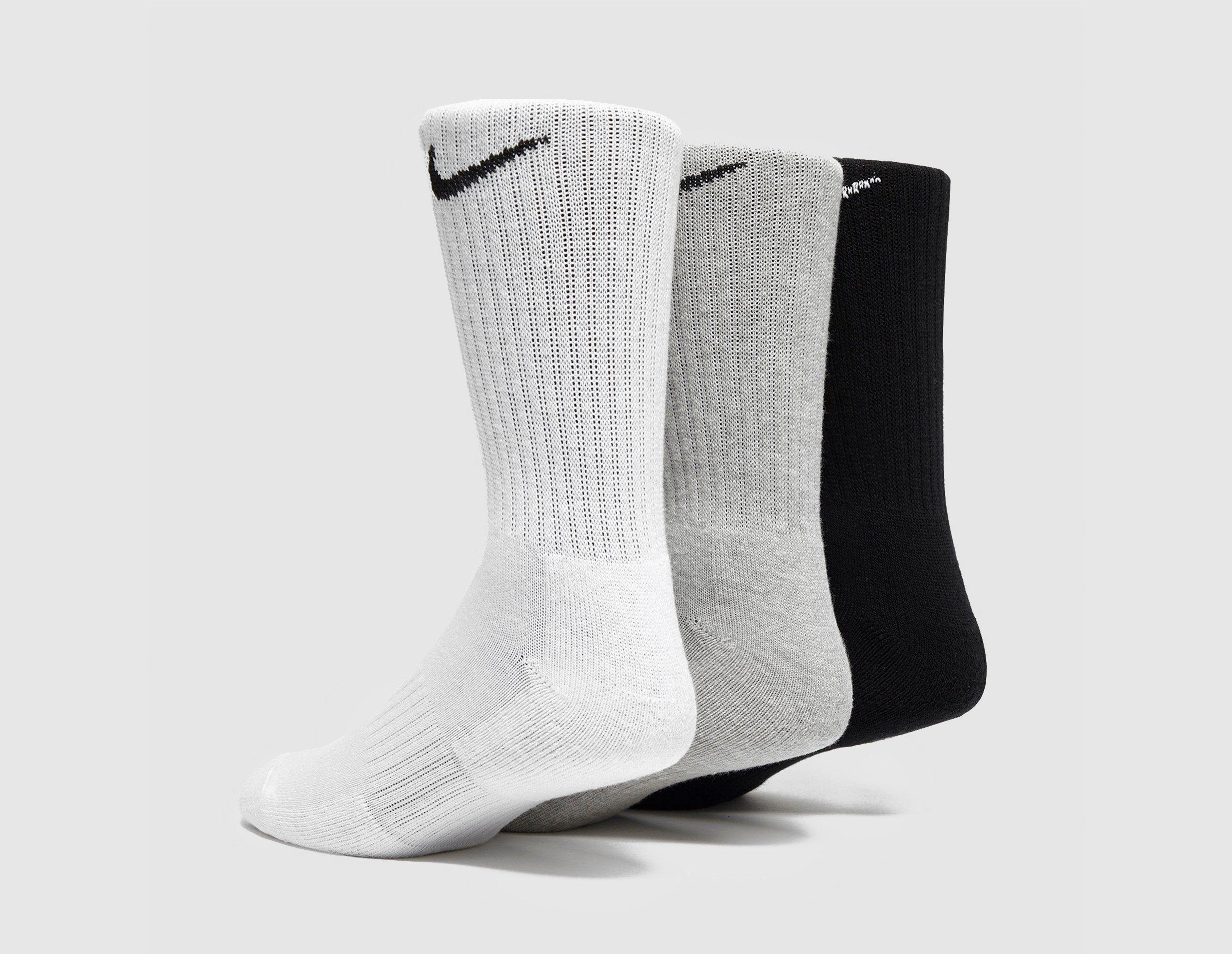 Nike 3 Pack Cushioned Crew Socks