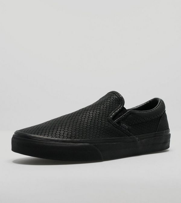 slip on vans leather snake