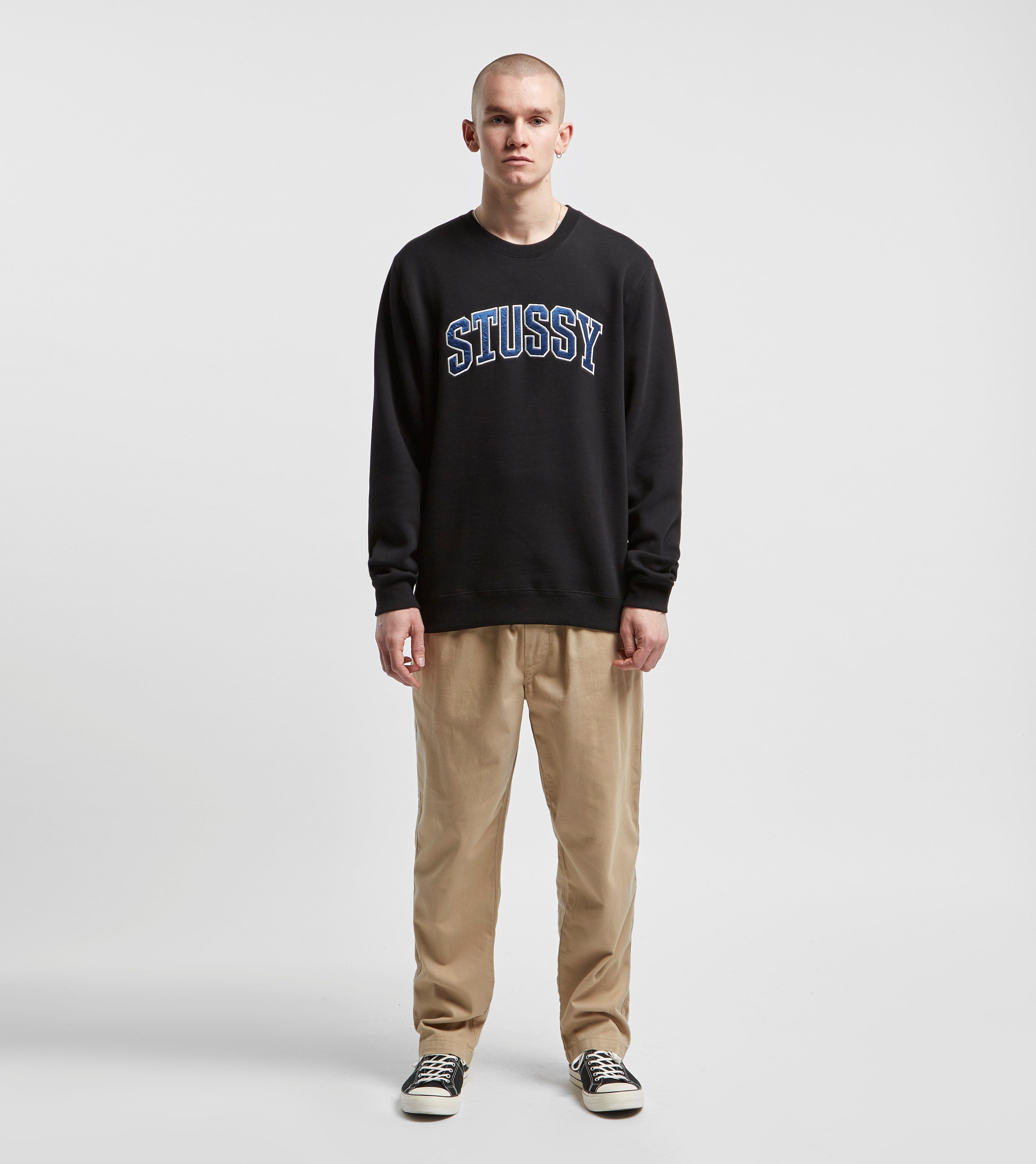 Stussy Arch Applique Crew Sweatshirt