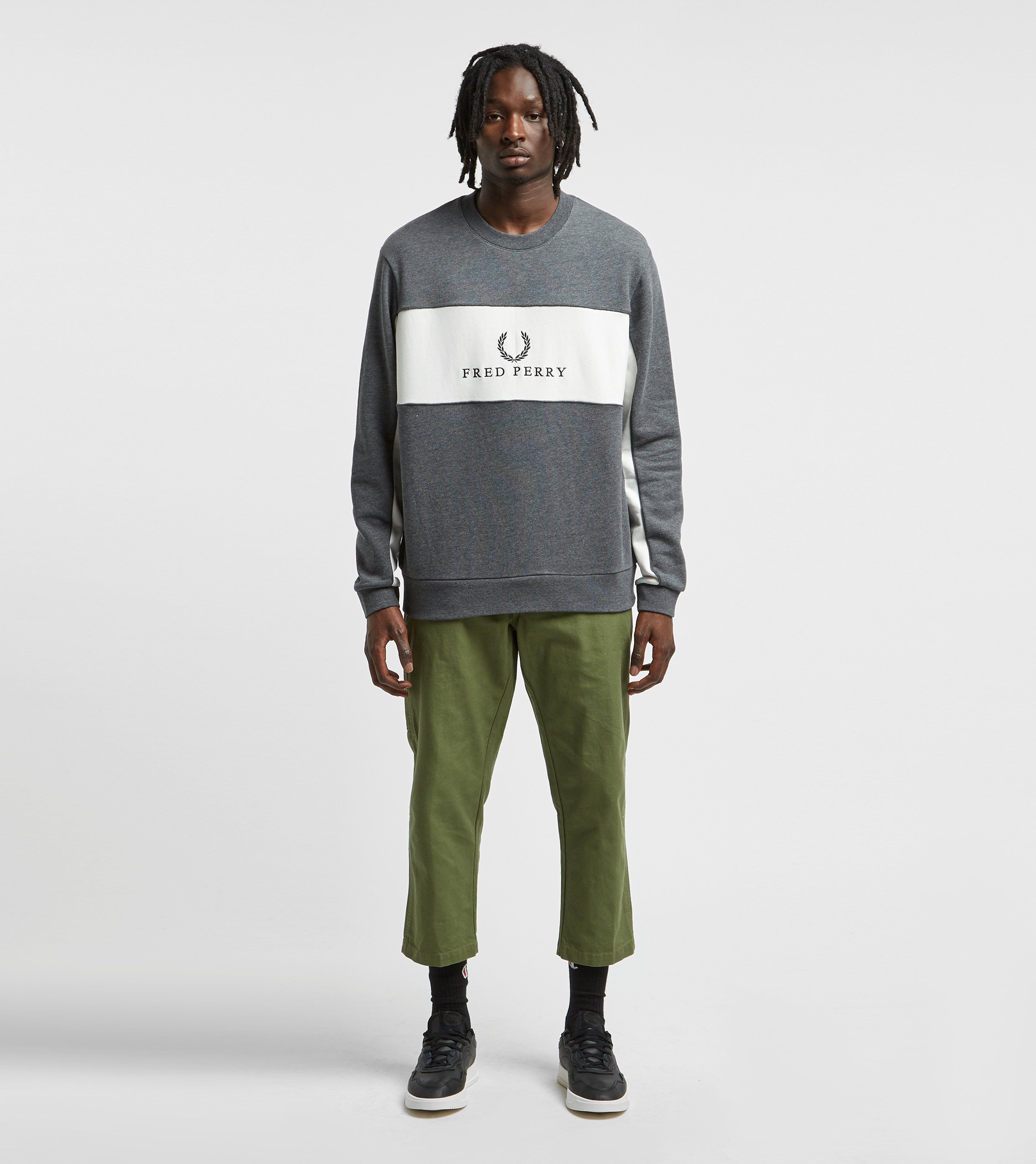 Fred Perry Central Panel Crew Sweatshirt