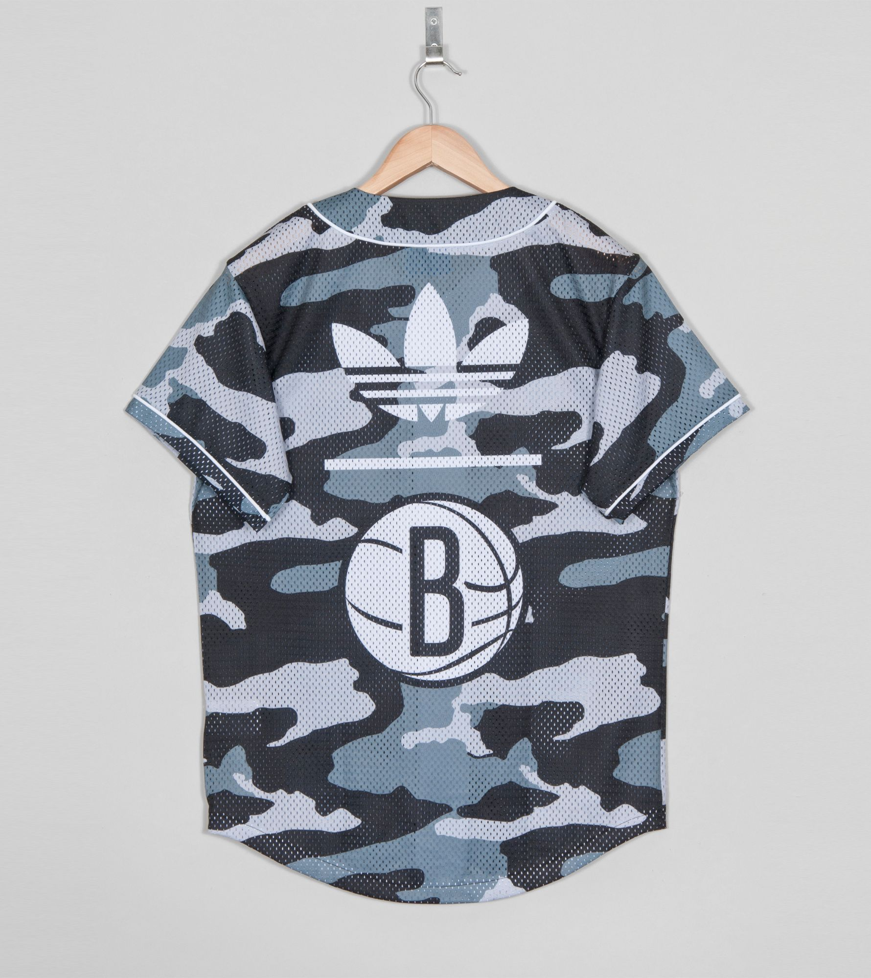 adidas Originals Brooklyn Nets Baseball Shirt