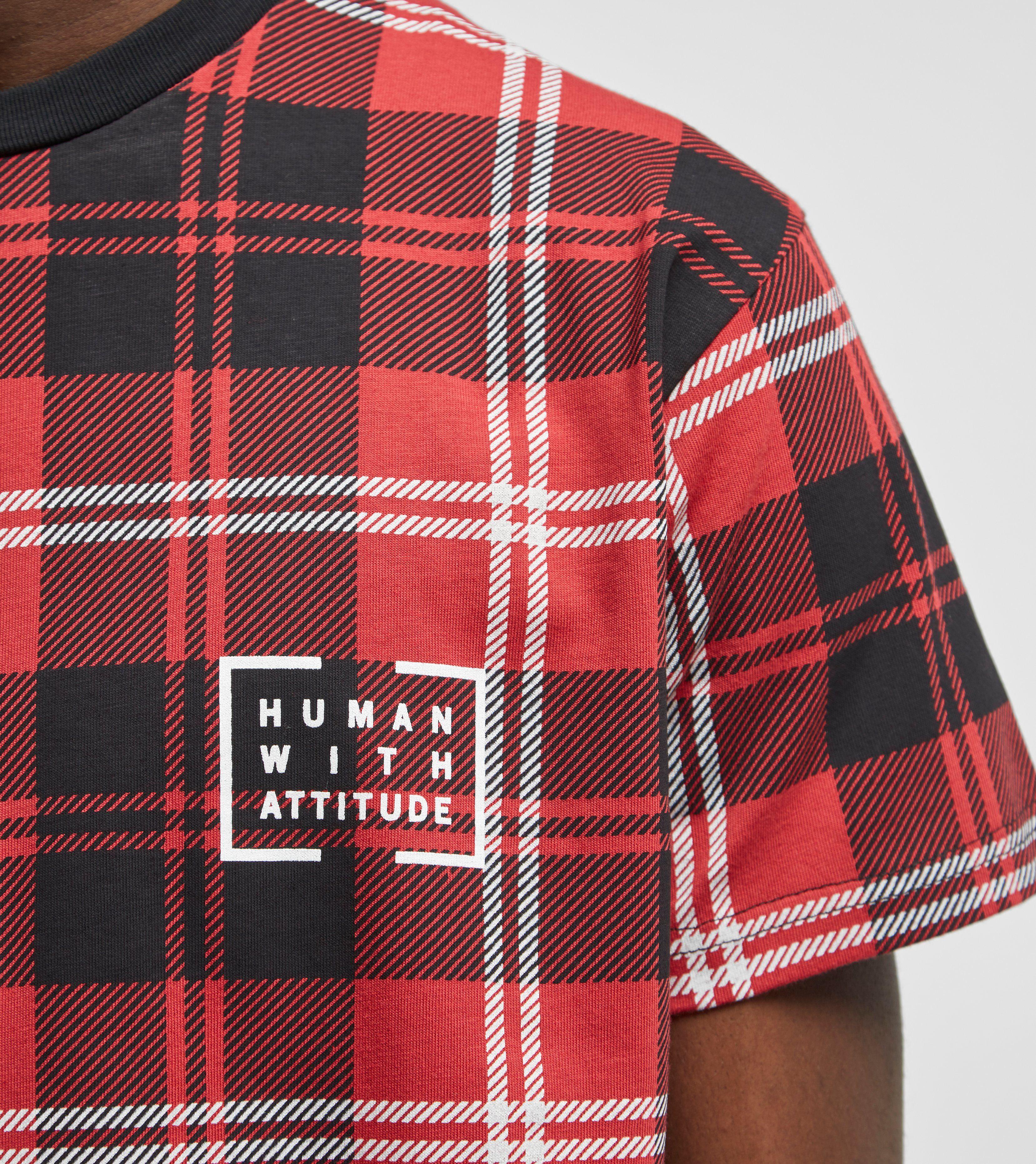 Human With Attitude Tartan T-Shirt