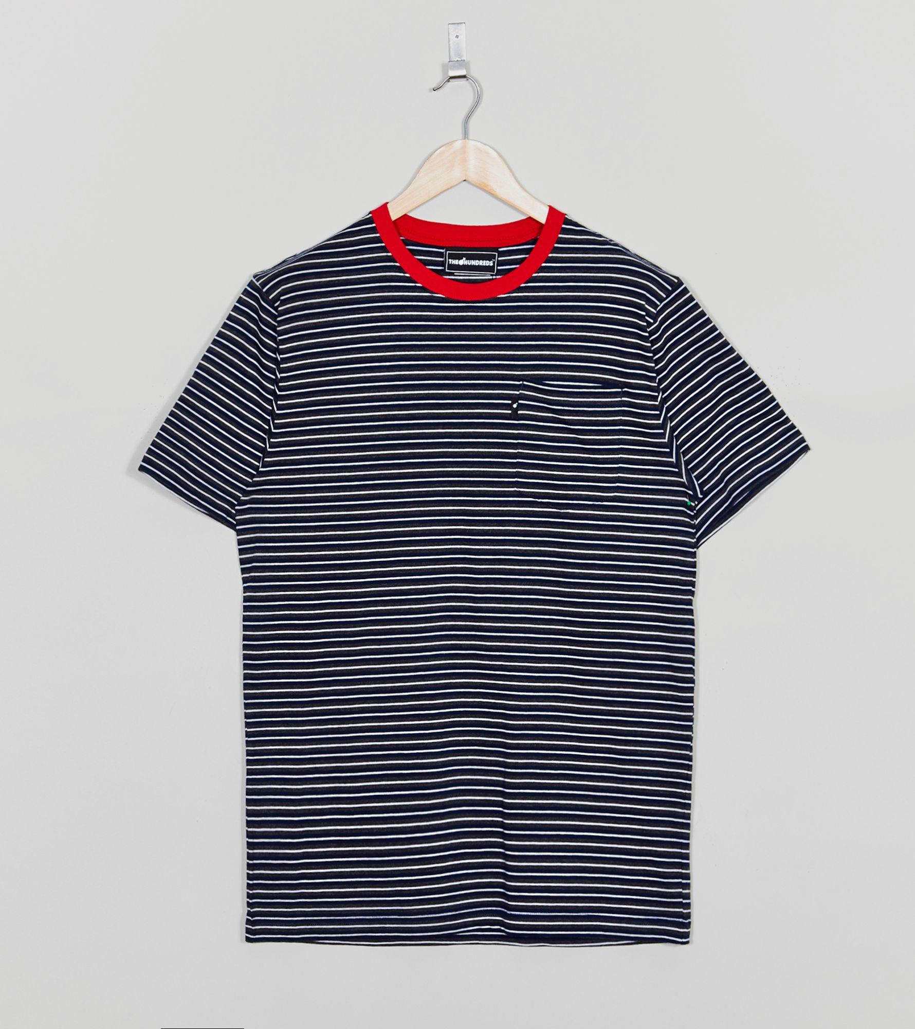 the hundreds disrupt striped t shirt size