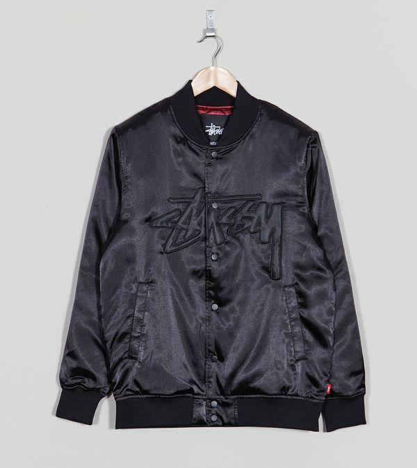 2232ce8a2d78 Stussy Stock Satin Varsity Jacket