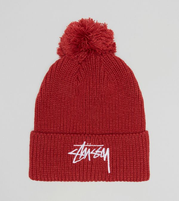 Stussy Stock Pom Beanie Hat  ed238e6910
