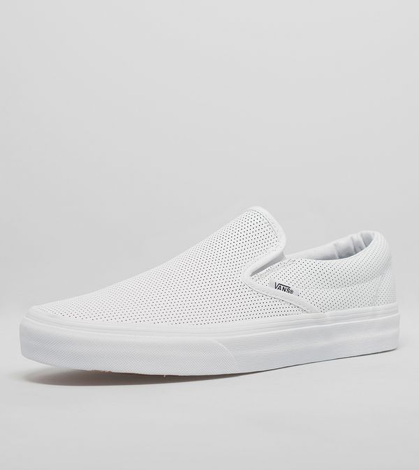 27fbd2dbb158 Vans Classic Slip On Perforated Leather