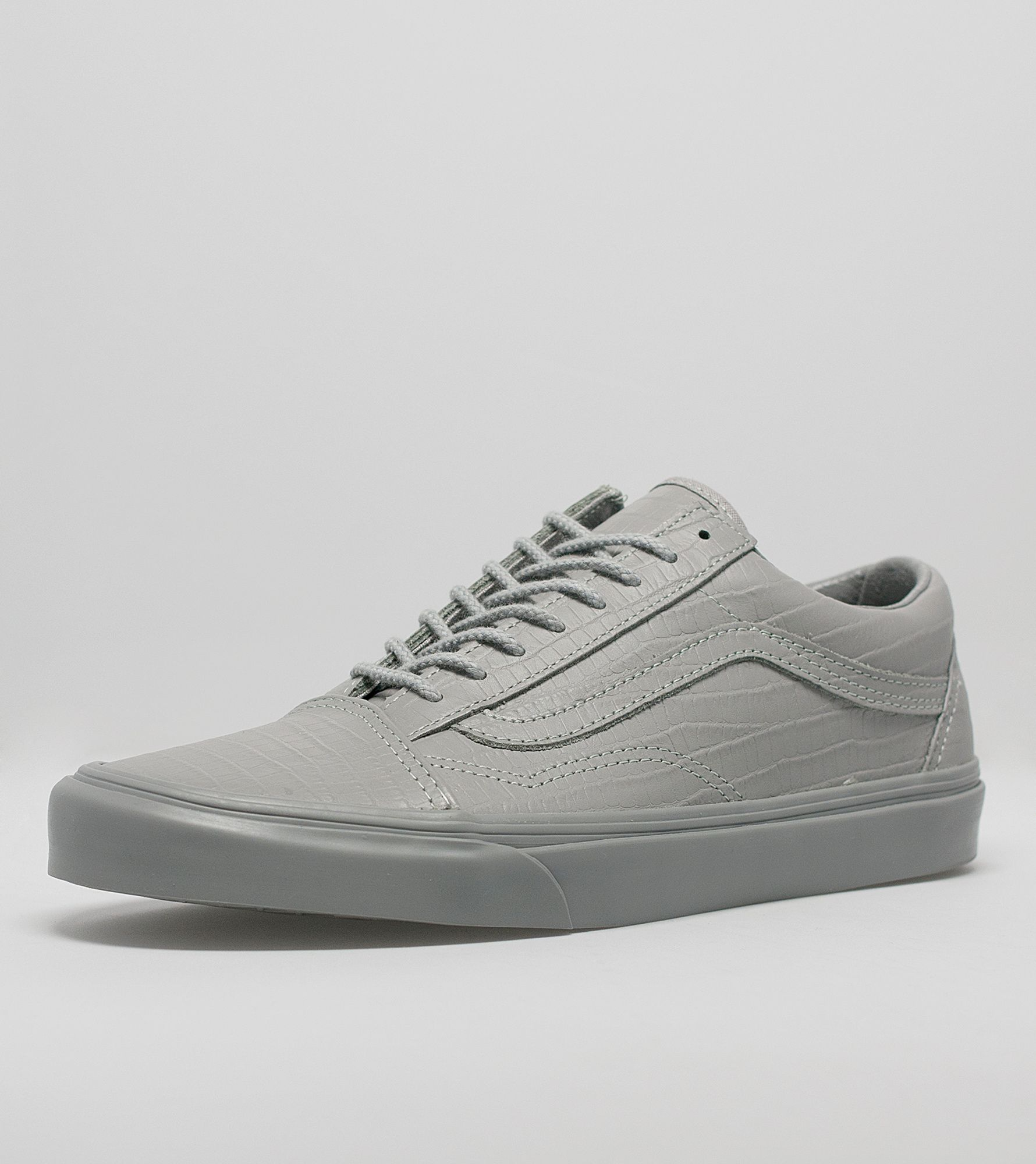 vans leather court trainers