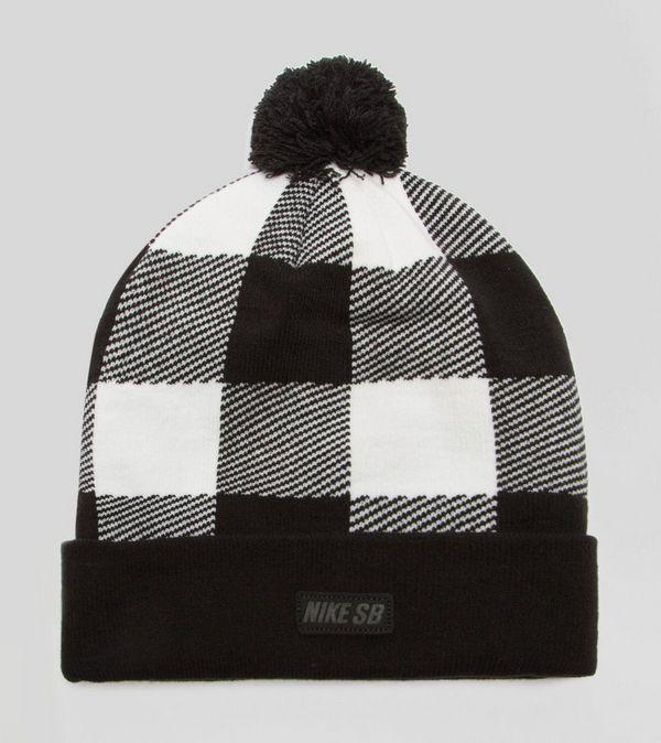 Nike SB Plaid Bobble Beanie Hat  8633dd8346e