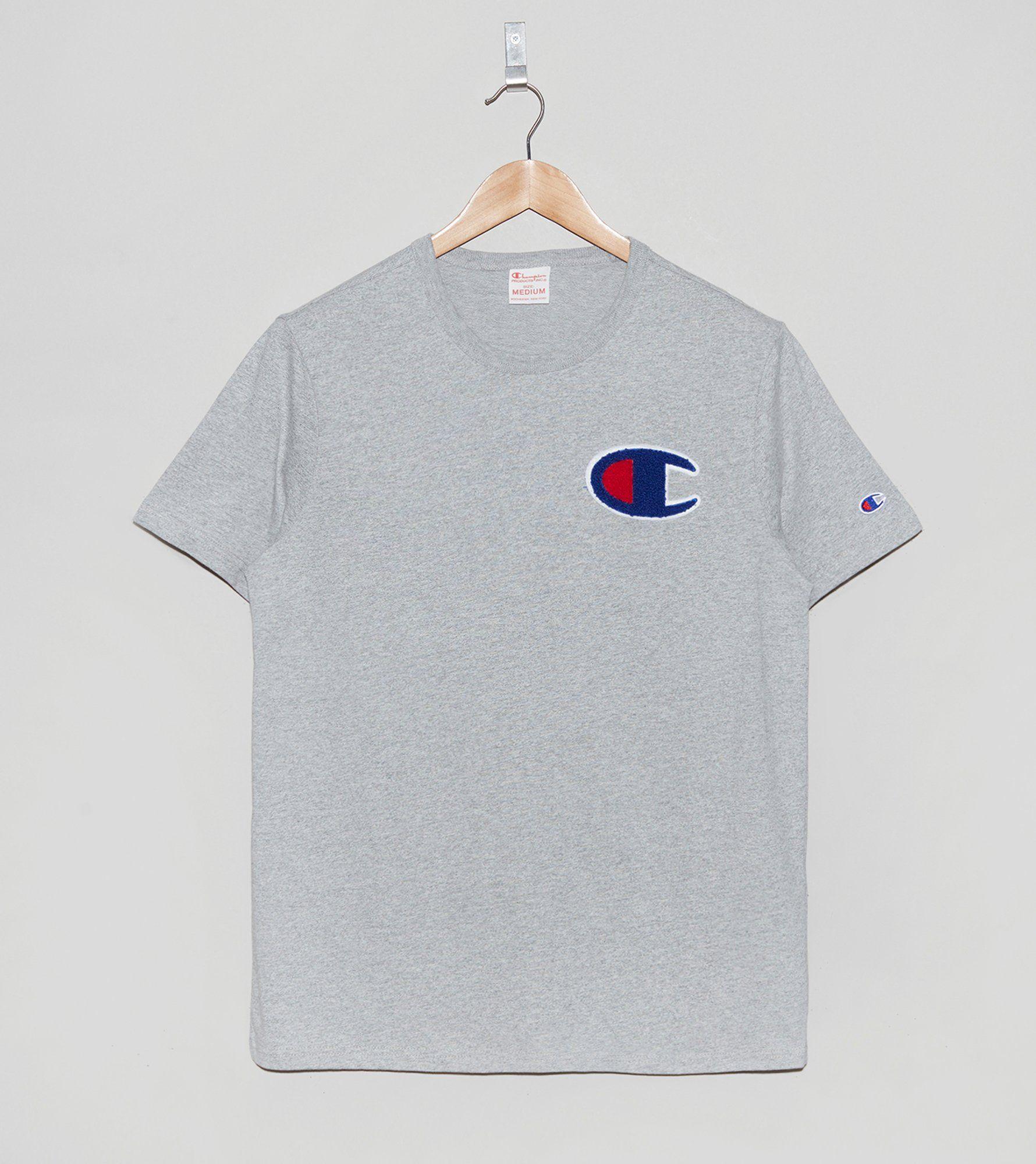 Champion Chenille Logo T Shirt Size