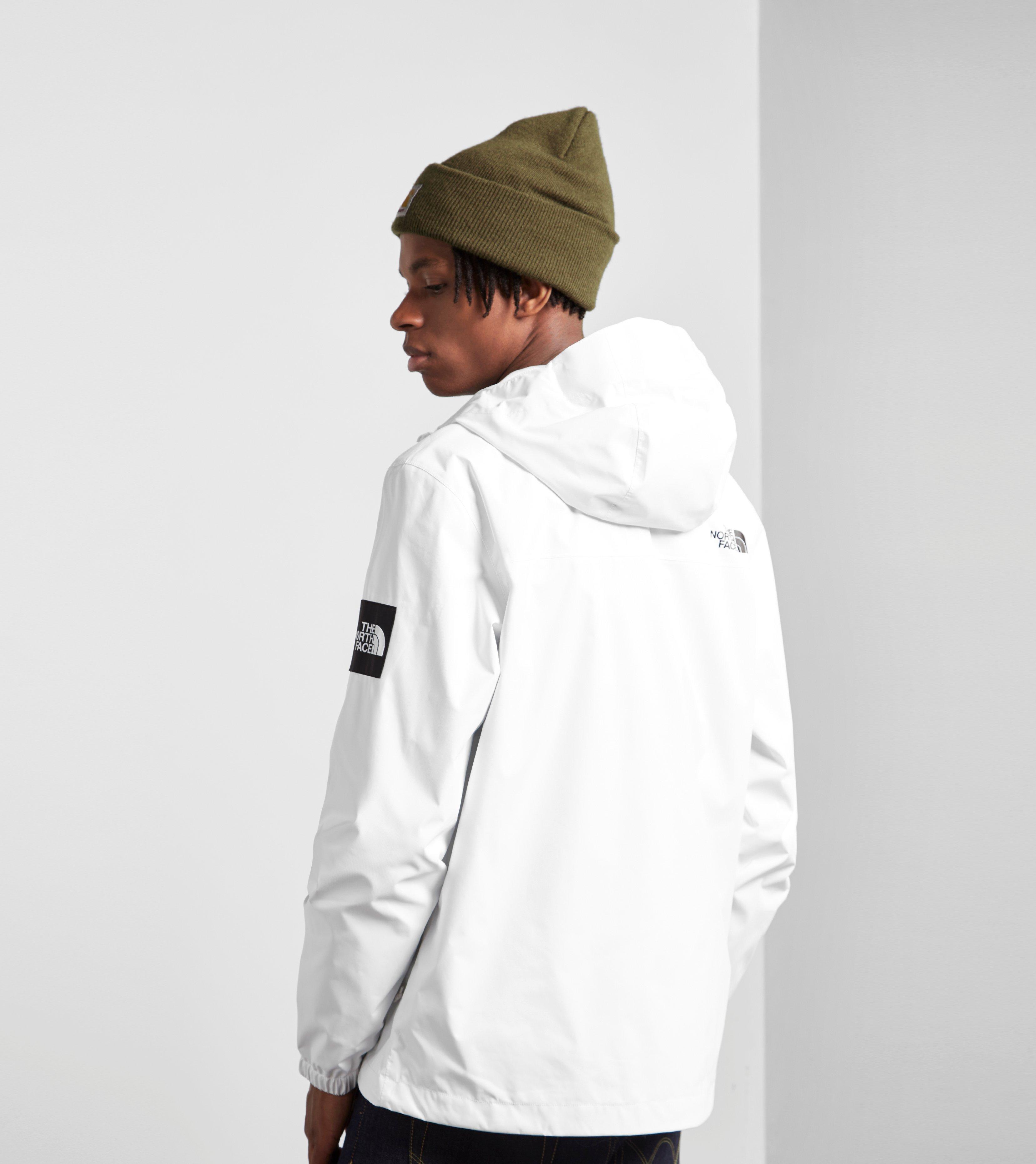 Black white north face jacket