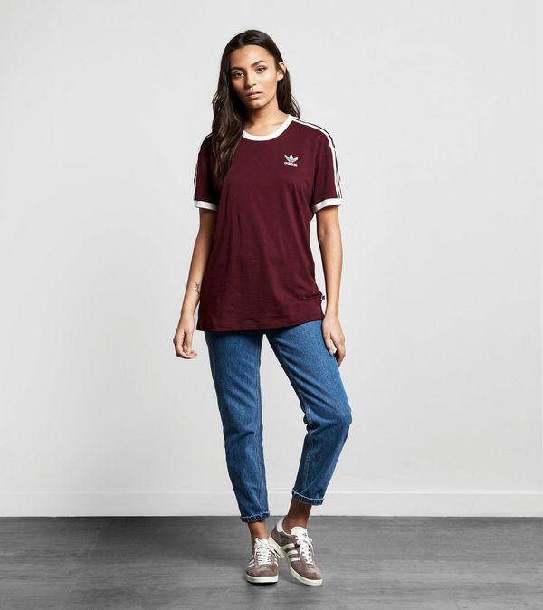 adidas originals burgundy t shirt