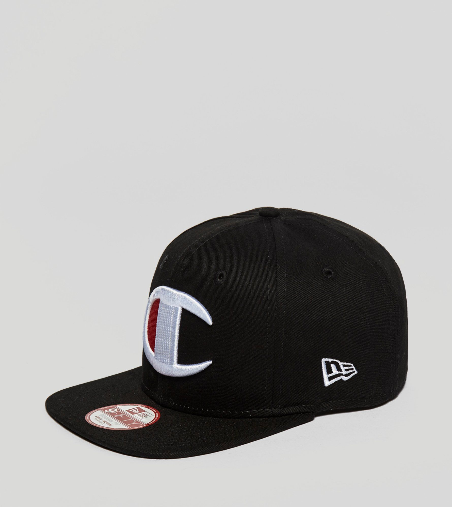 Cap With Large Logo In Black - Black Champion