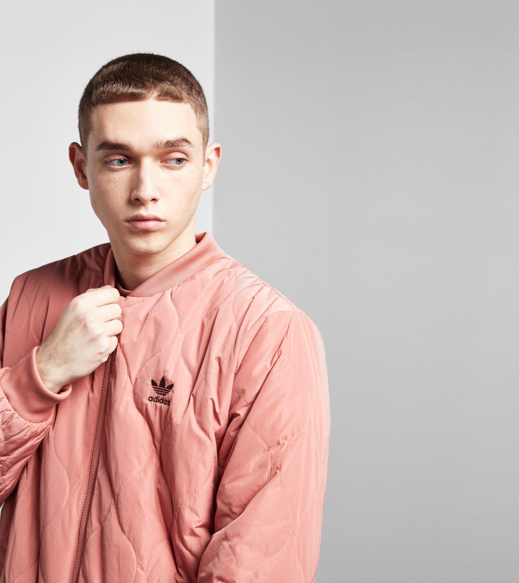 Adidas Originals Fallen Future Quilted Bomber Jacket Size