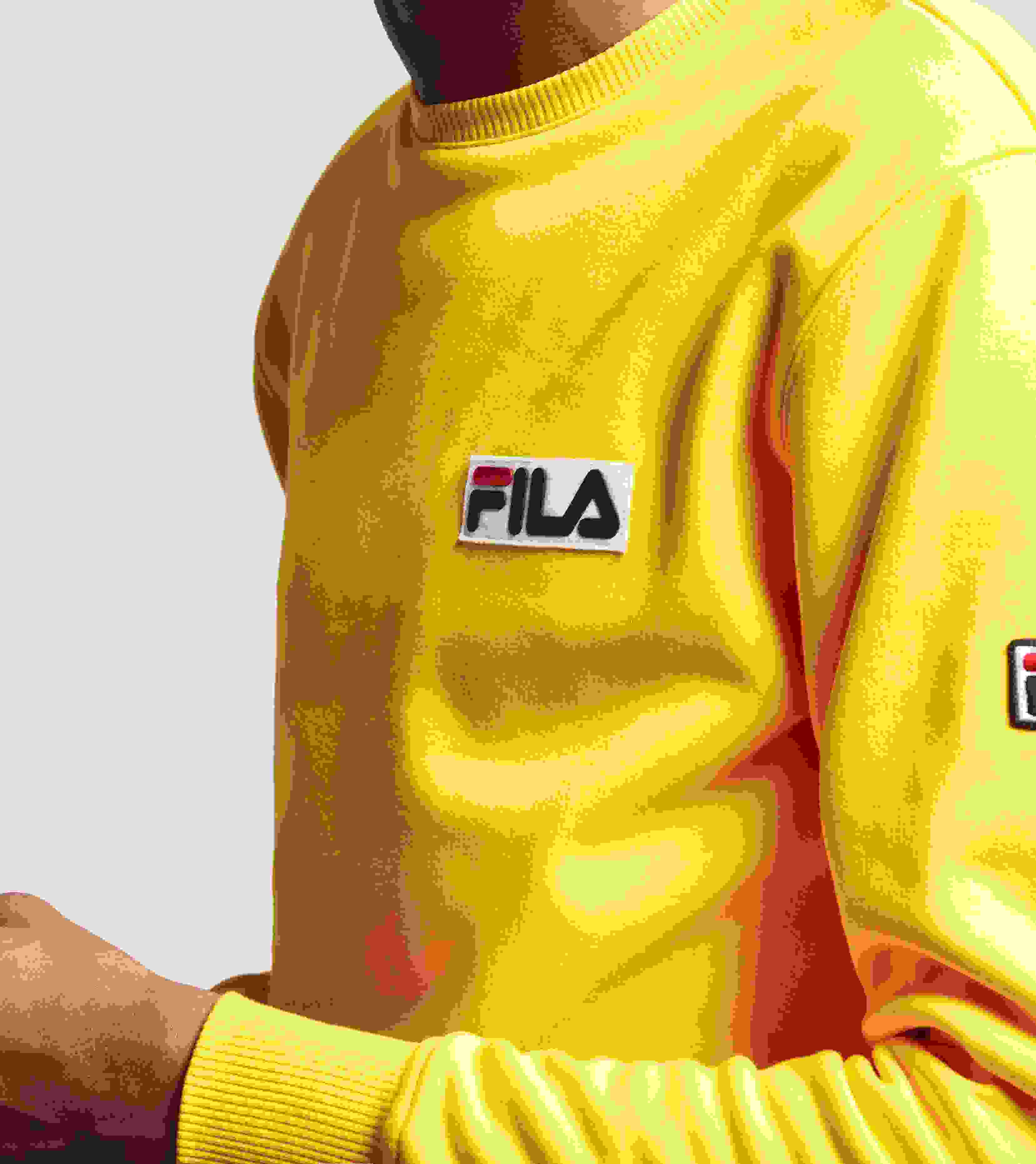 fila yellow. fila mast crew jumper yellow r
