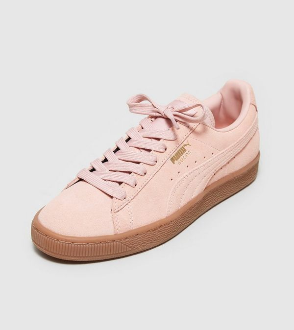 puma suede beige and pink