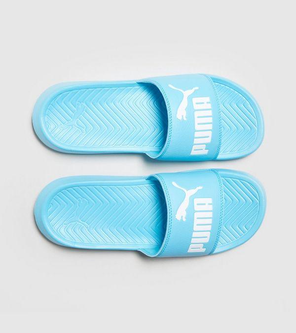 puma blue slides