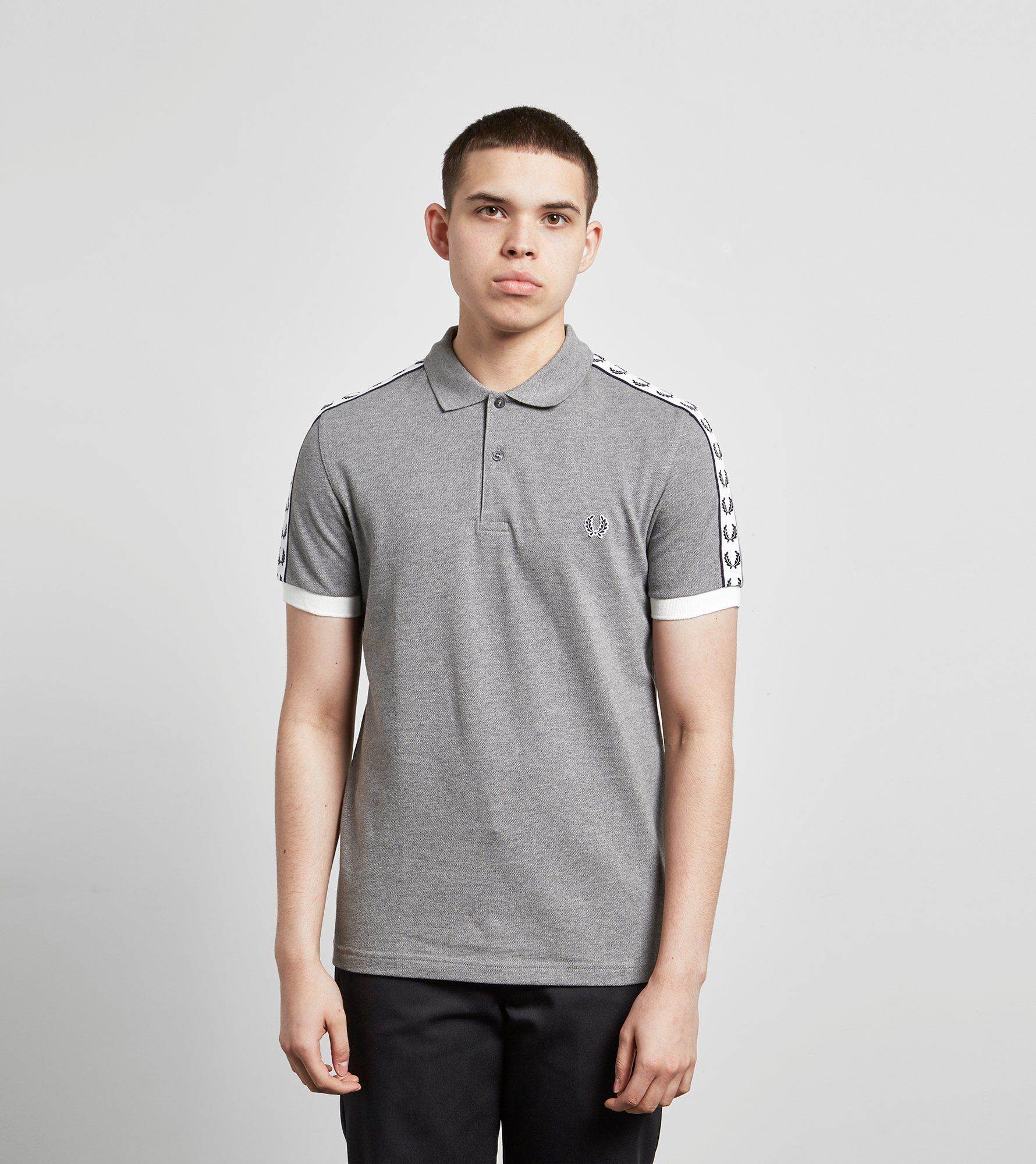 b3d1623b1 Fred Perry Taped Polo T Shirt White