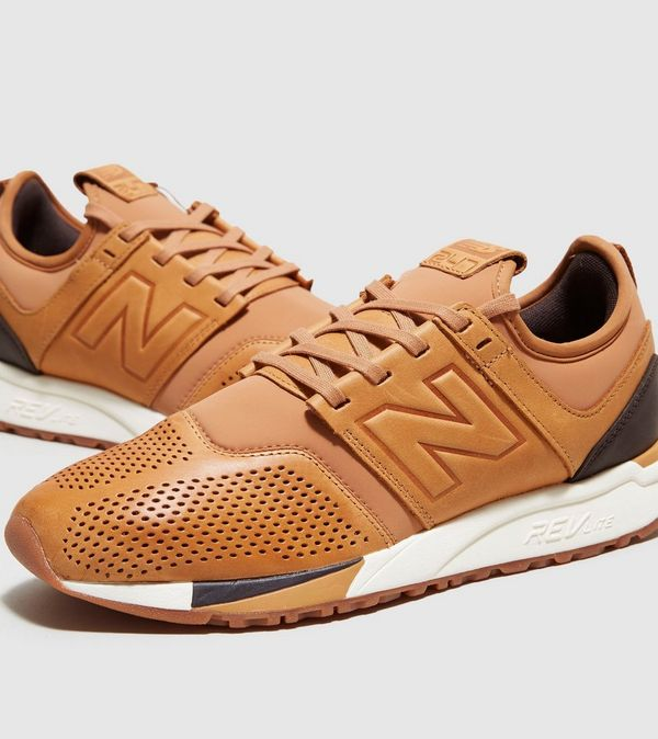 new balance 247 brown leather