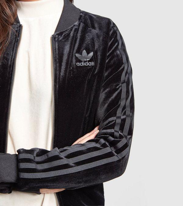 black suede adidas jacket