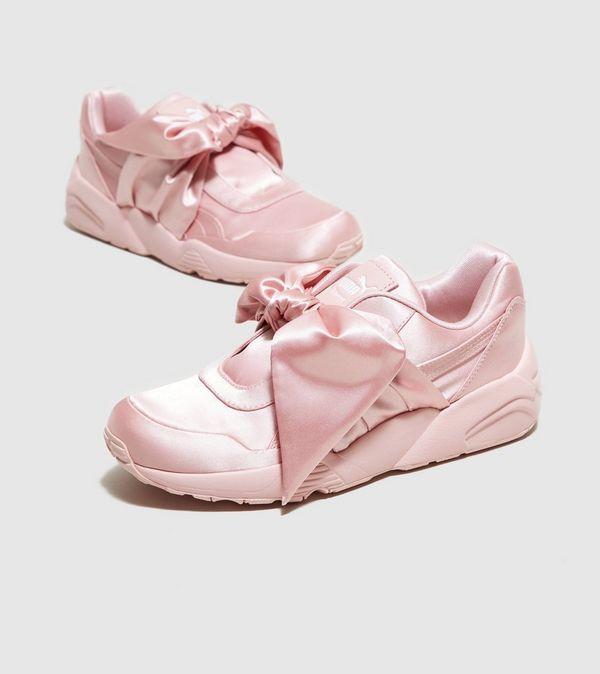 puma bow sneakers beige