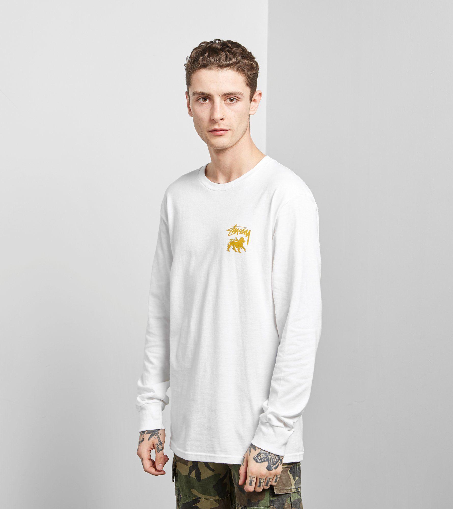 Stussy Long Sleeved Stock Lion T-Shirt