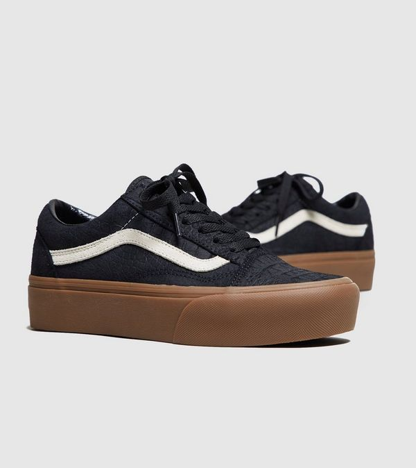 vans old skool platform black womens