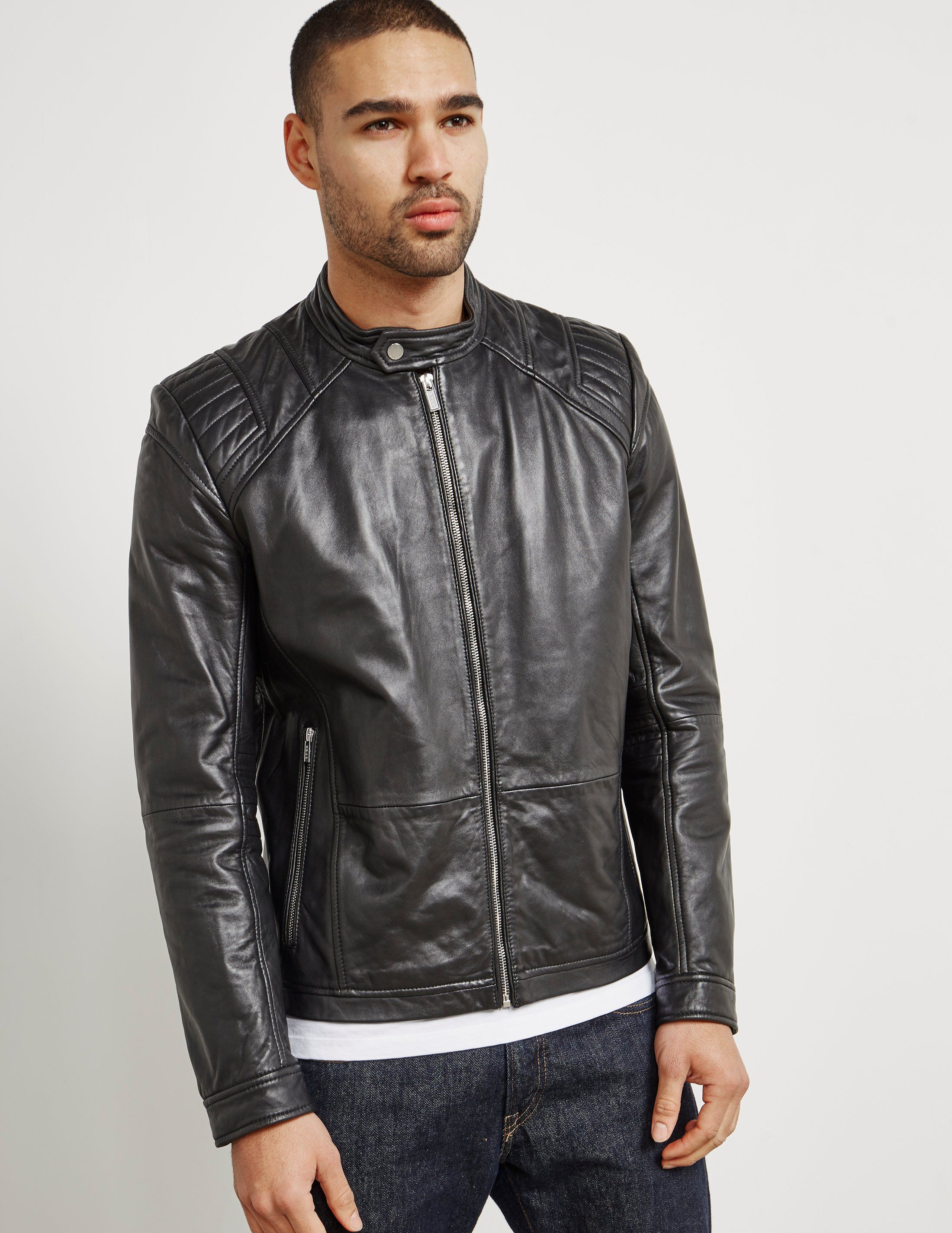 HUGO Lank Leather Jacket - Online Exclusive