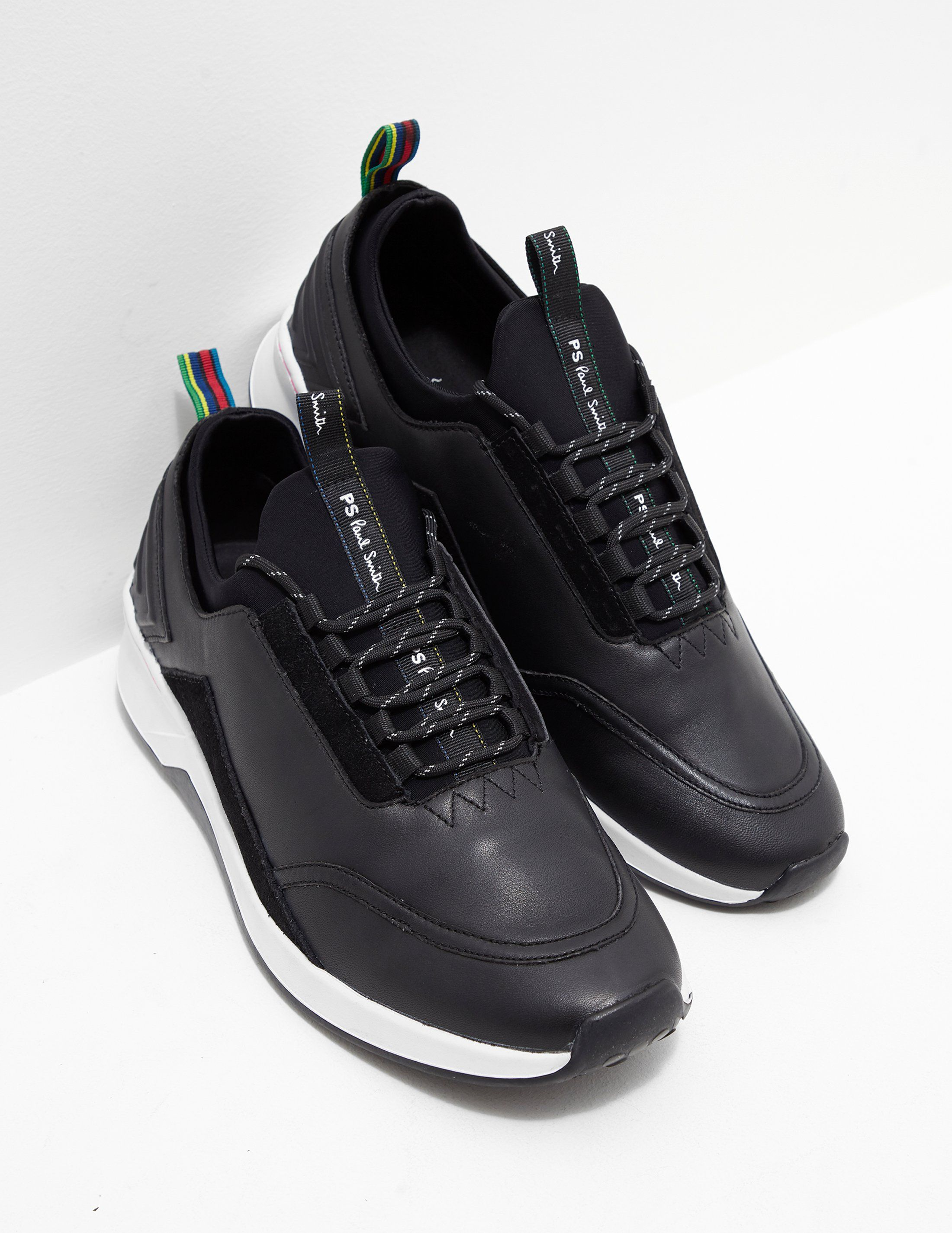 PS Paul Smith Mookie Leather Trainer In Black