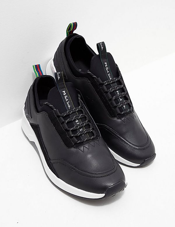 PS Paul Smith Mookie Leather Trainer In Black clearance for cheap 216ztEPtG