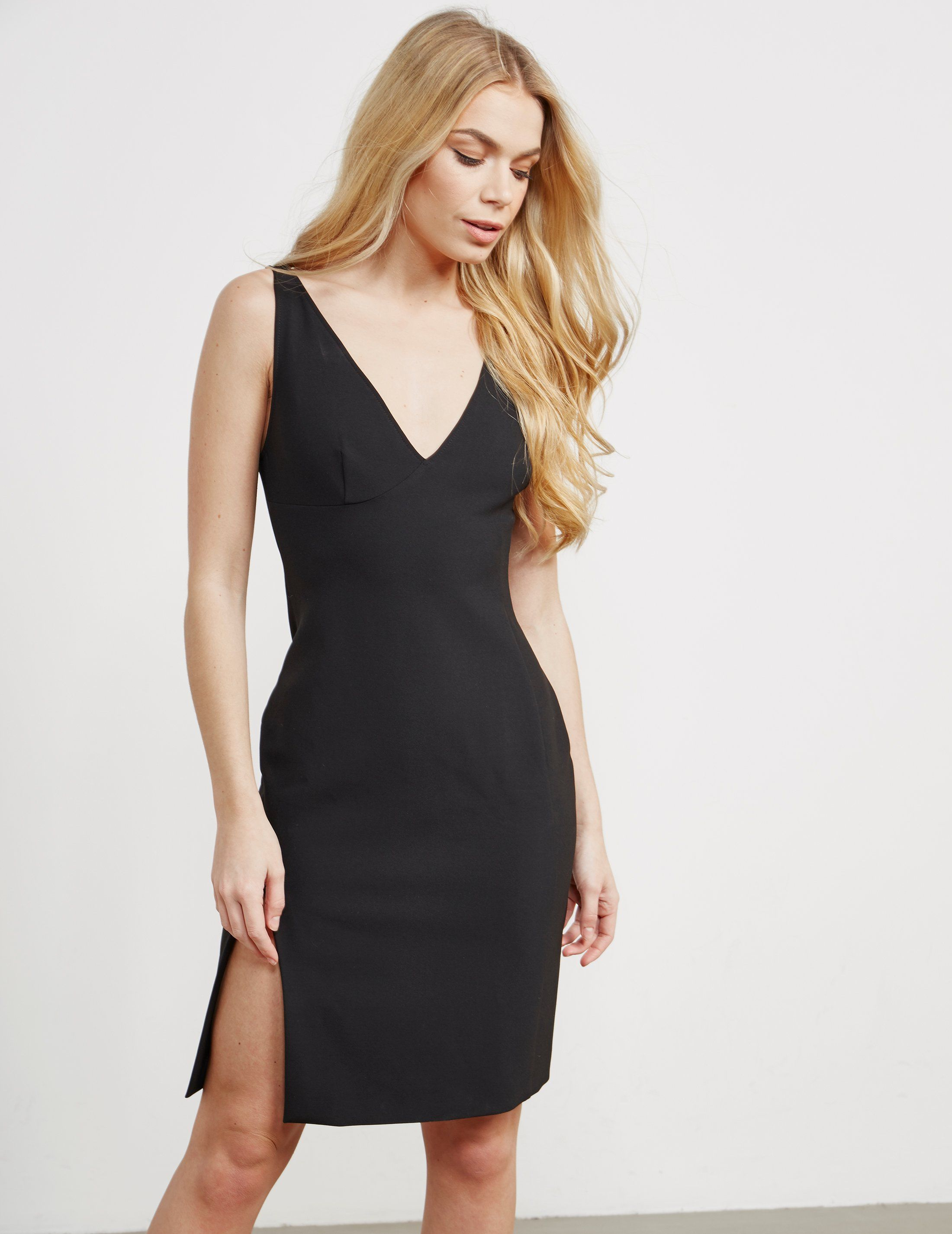 Versace Woven V-Neck Dress