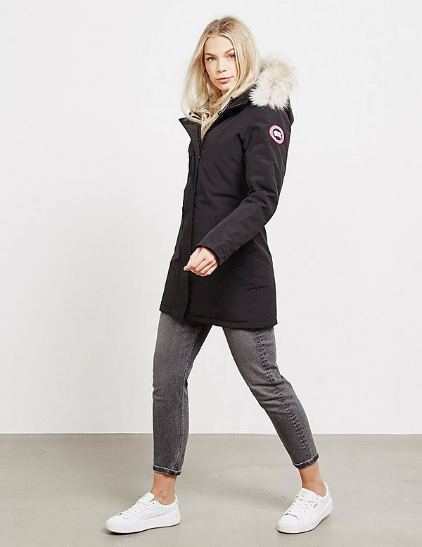 canada goose victoria padded parka jacket tessuti. Black Bedroom Furniture Sets. Home Design Ideas