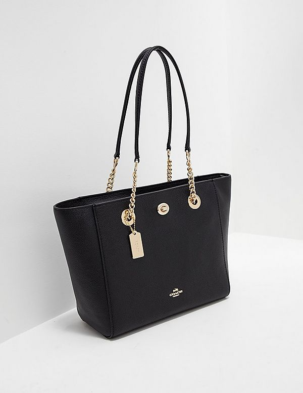 7d1d1a967f36f ... leather 229a7 0a422 where can i buy coach turnlock chain tote 9f375  37c06 netherlands coach womens ...