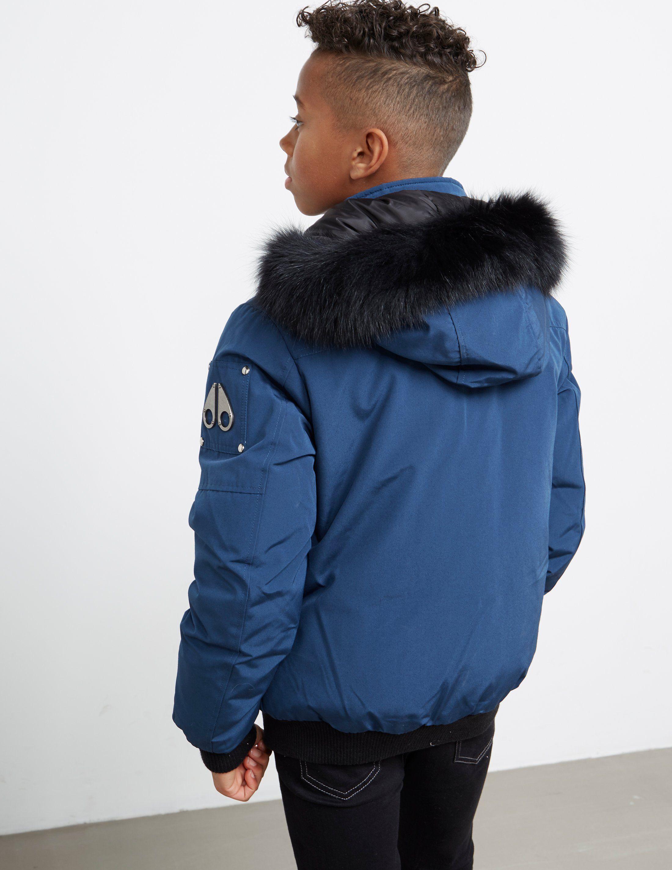Moose Knuckles Fur Bomber Jacket