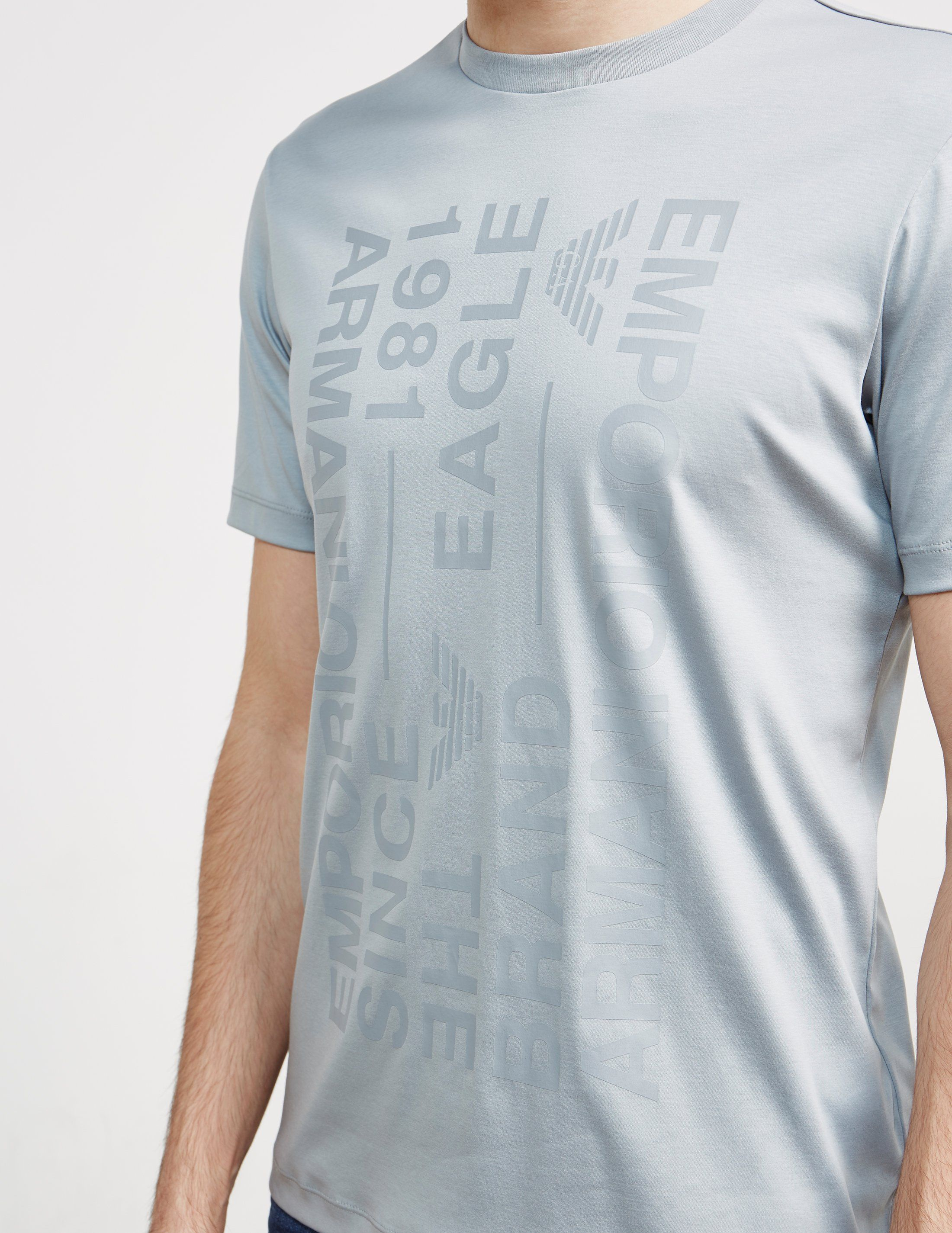 Emporio Armani Text Short Sleeve T-Shirt