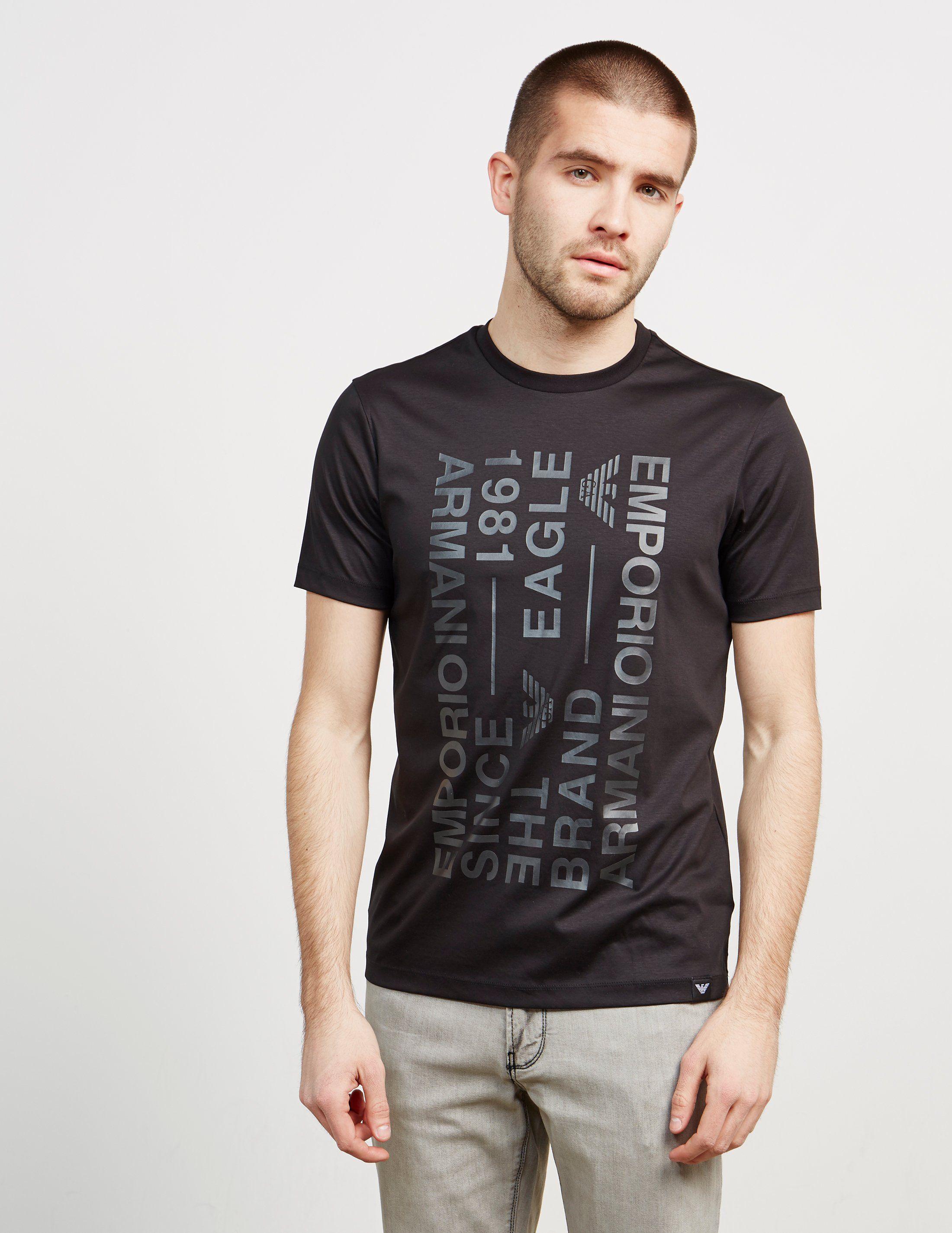 Emporio Armani Text Short Sleeve T-Shirt