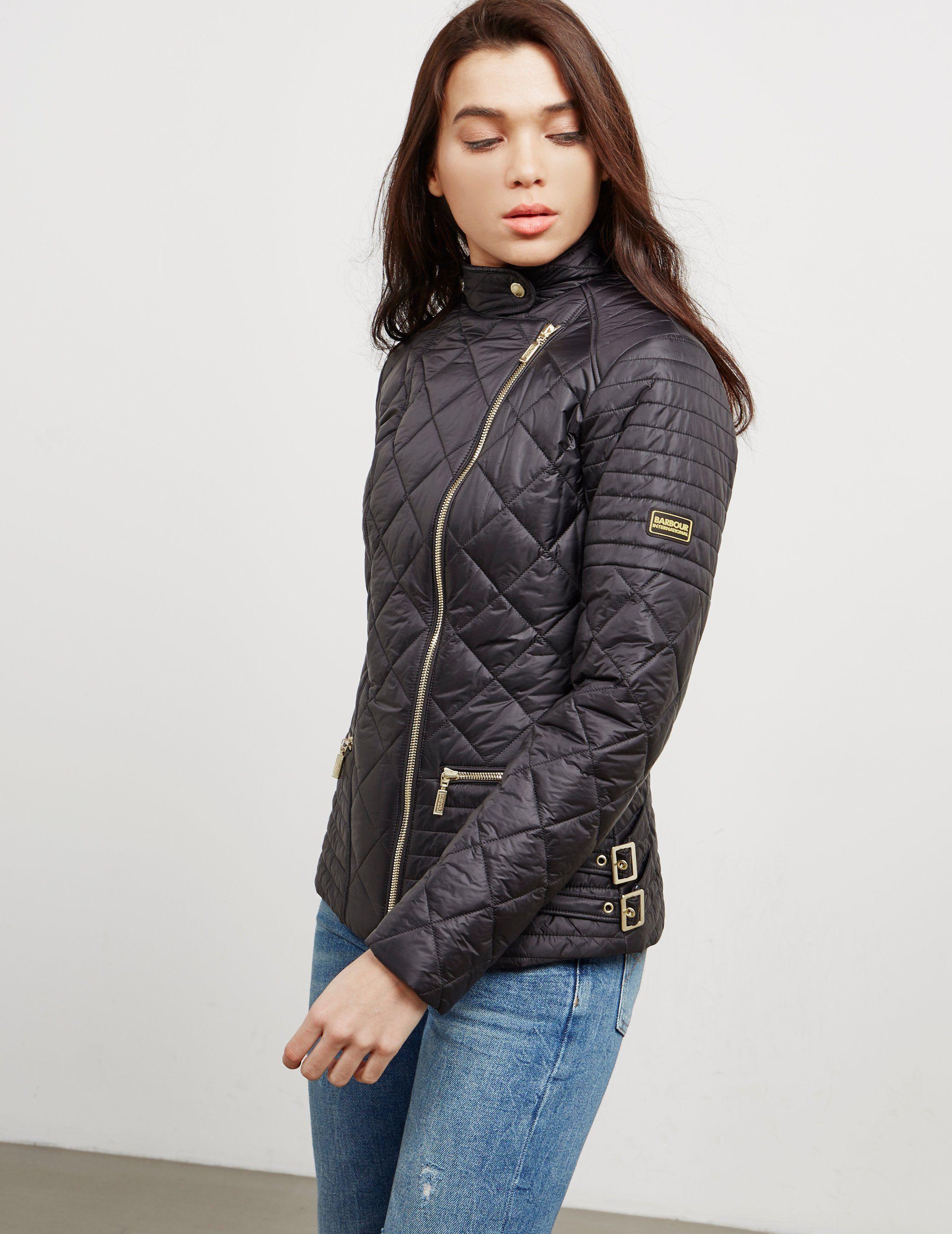 Barbour International Wyvis Biker Quilted Jacket