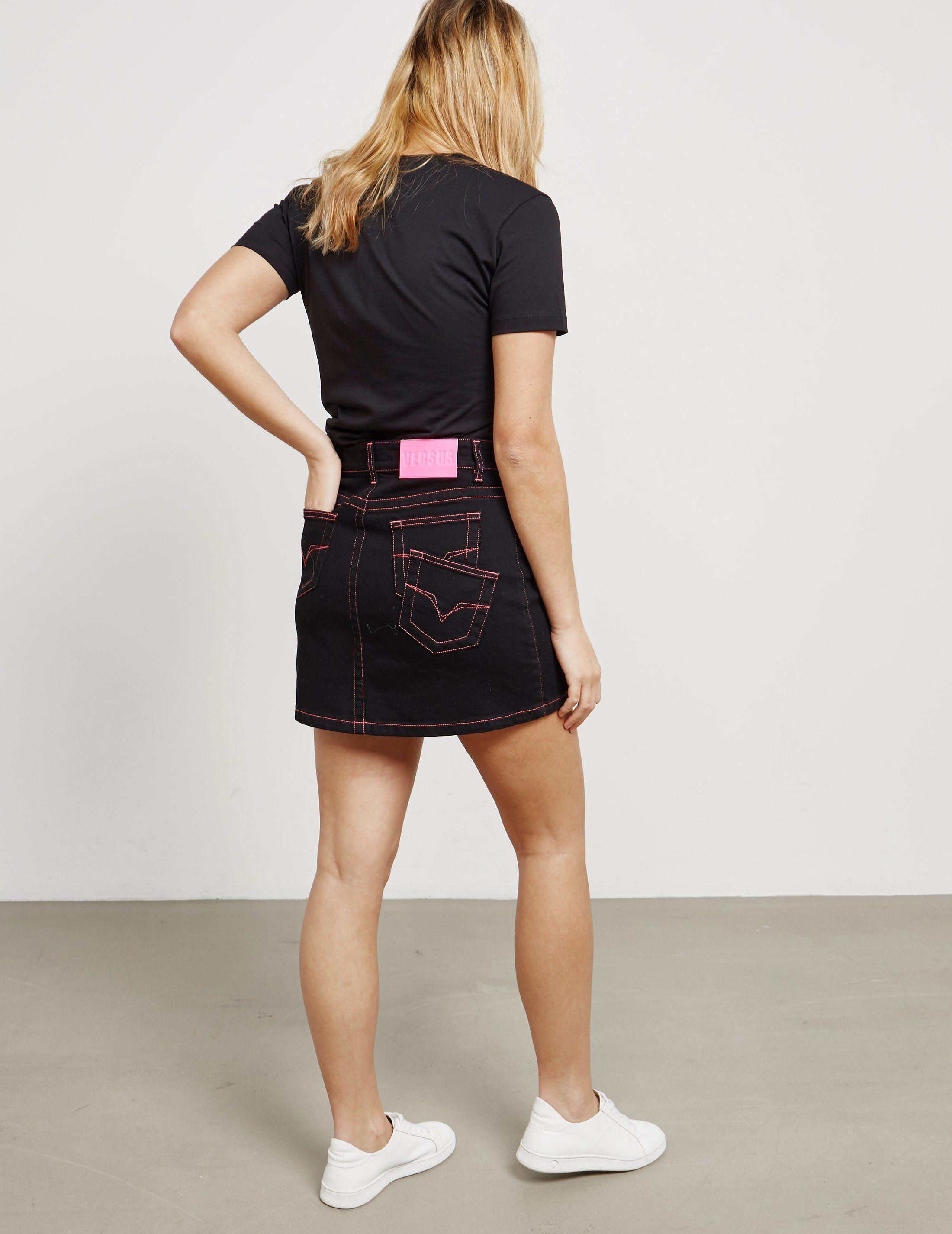 Versus Versace Denim Mini Skirt