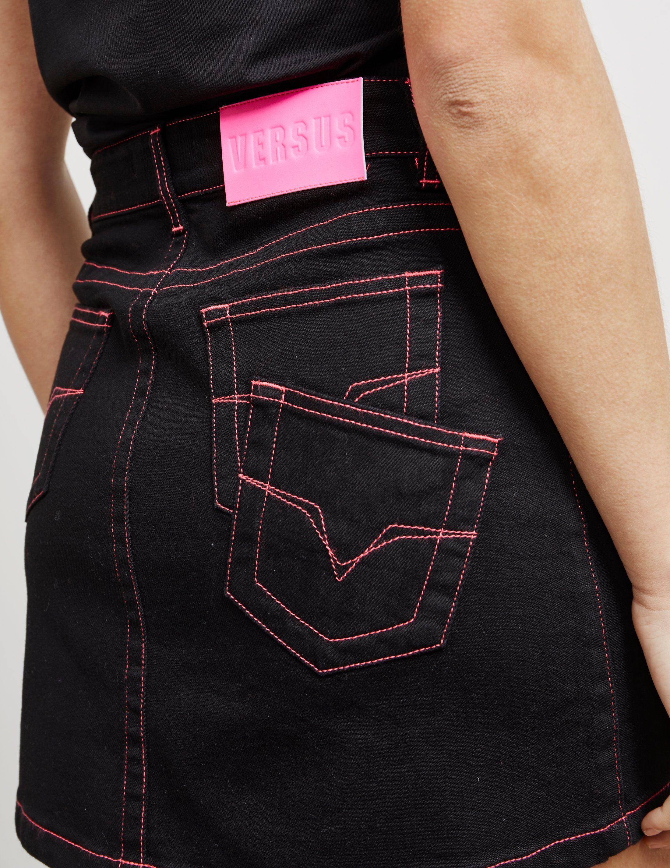 Versus Versace Denim Mini Skirt - Online Exclusive