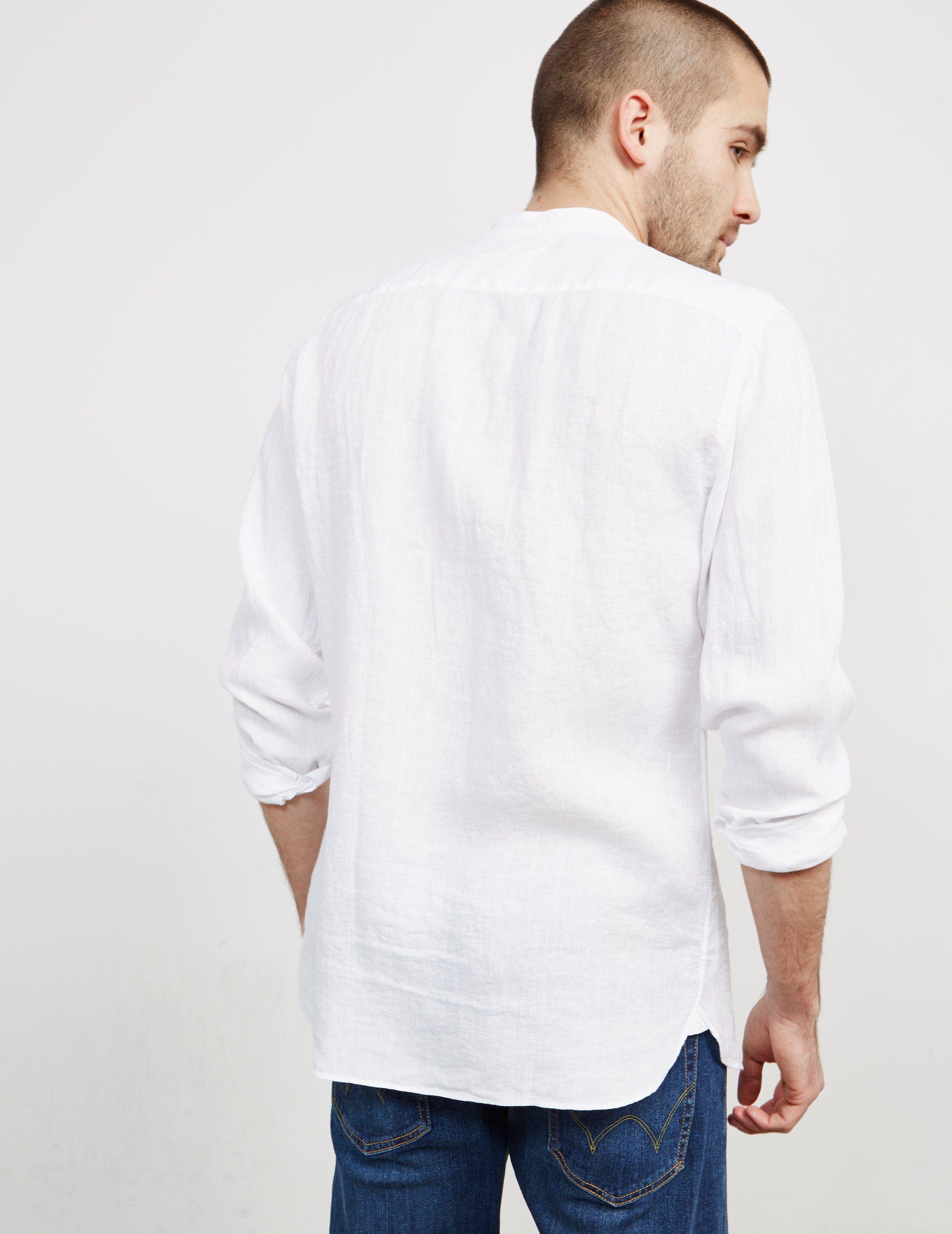 Z Zegna Guru Collar Long Sleeve Shirt