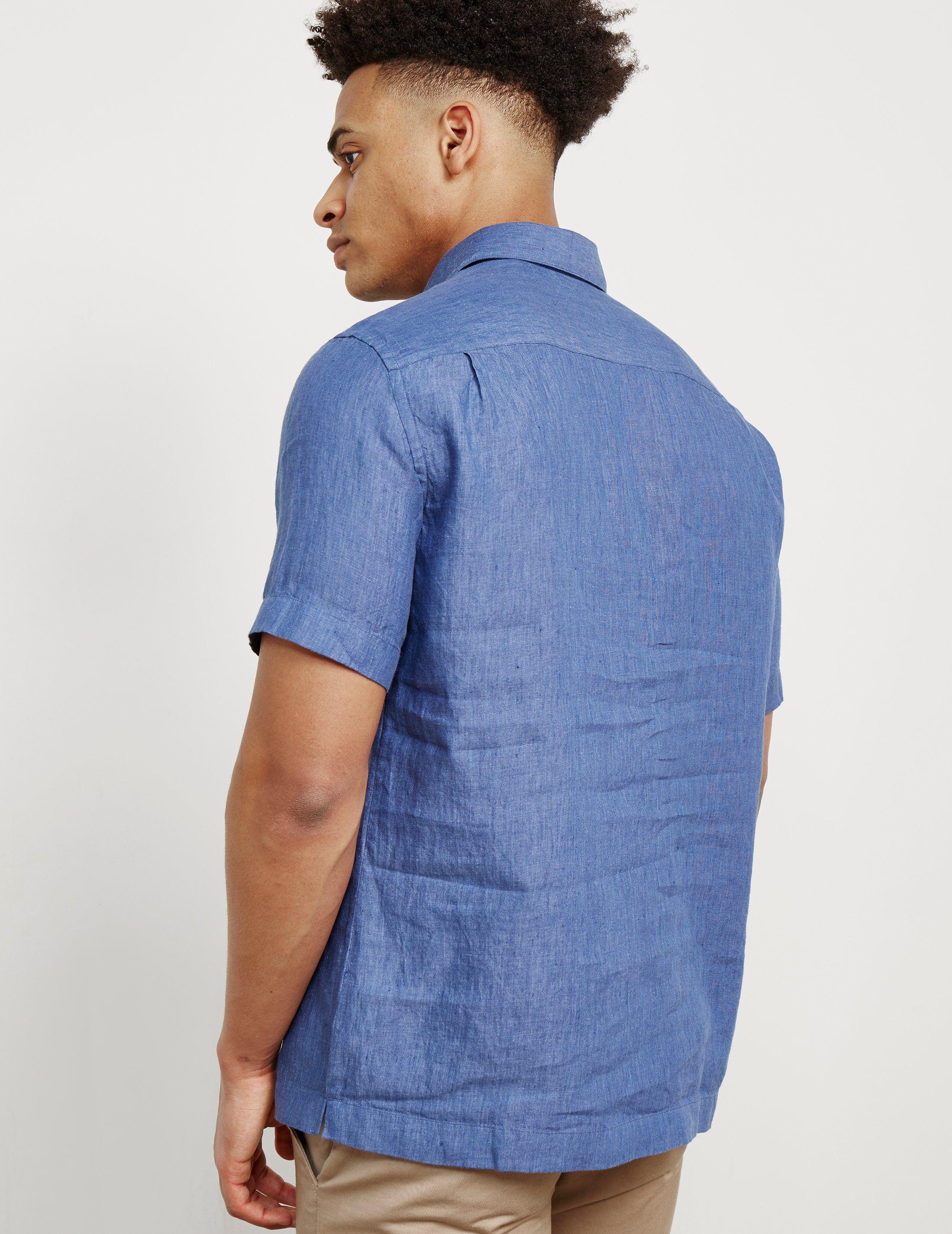 Z Zegna Linen Short Sleeve Polo Shirt